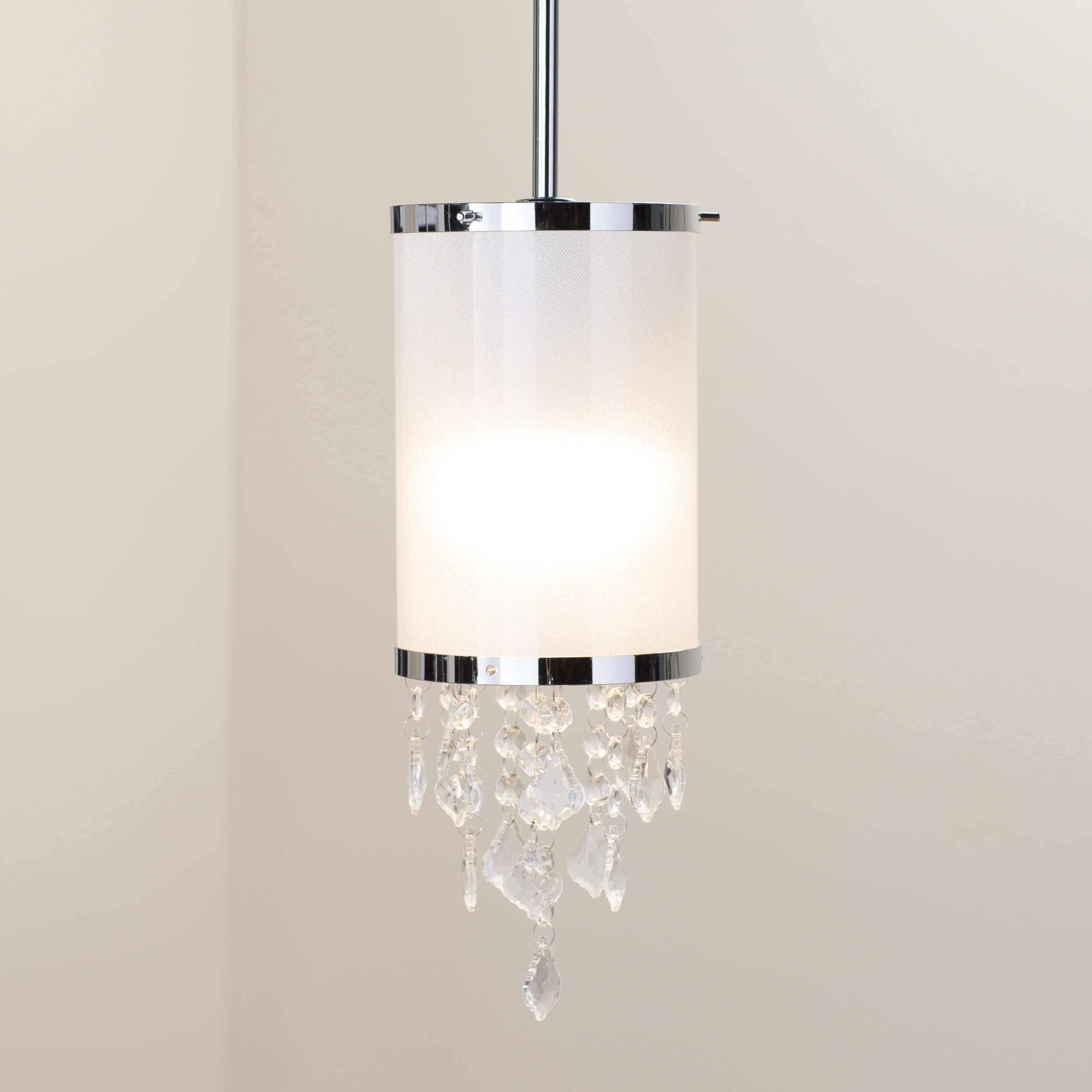 "2020 Crystal Mini (Less Than 10"" Wide) Pendant Lighting You'll Inside Kraker 1 Light Single Cylinder Pendants (Gallery 10 of 20)"