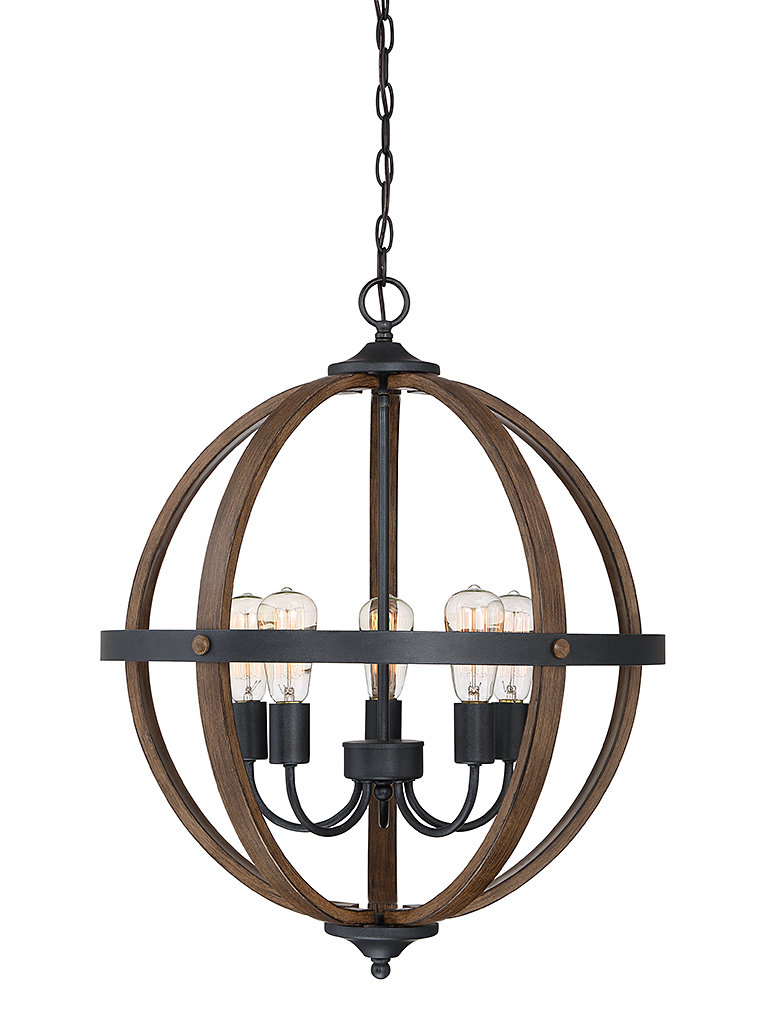2020 Donna 4 Light Globe Chandeliers In Makeba 5 Light Globe Chandelier (Gallery 10 of 20)