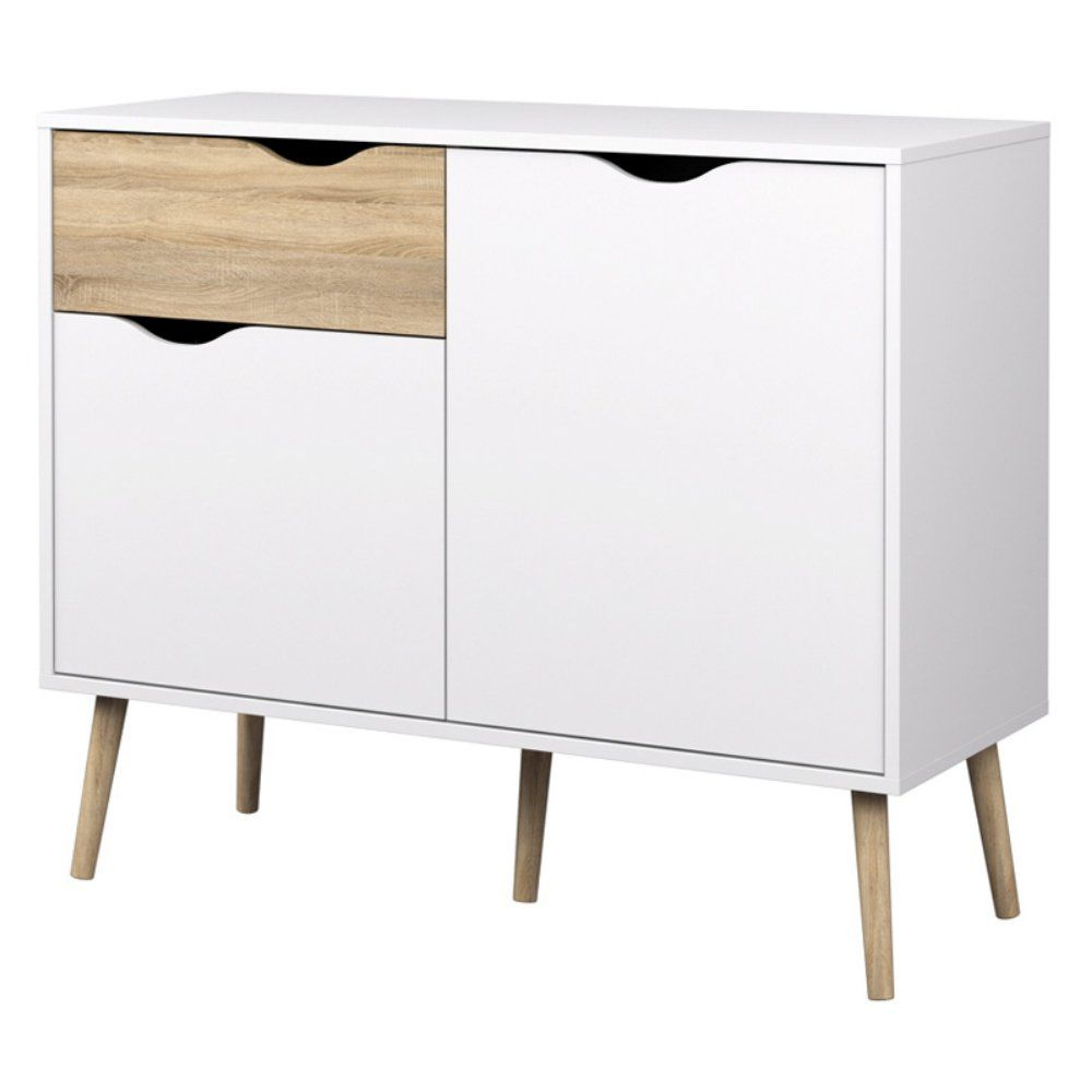2020 Dowler 2 Drawer Sideboards For Tvilum Delta Diana Sideboard With 2 Doors And 1 Drawer (Gallery 8 of 20)