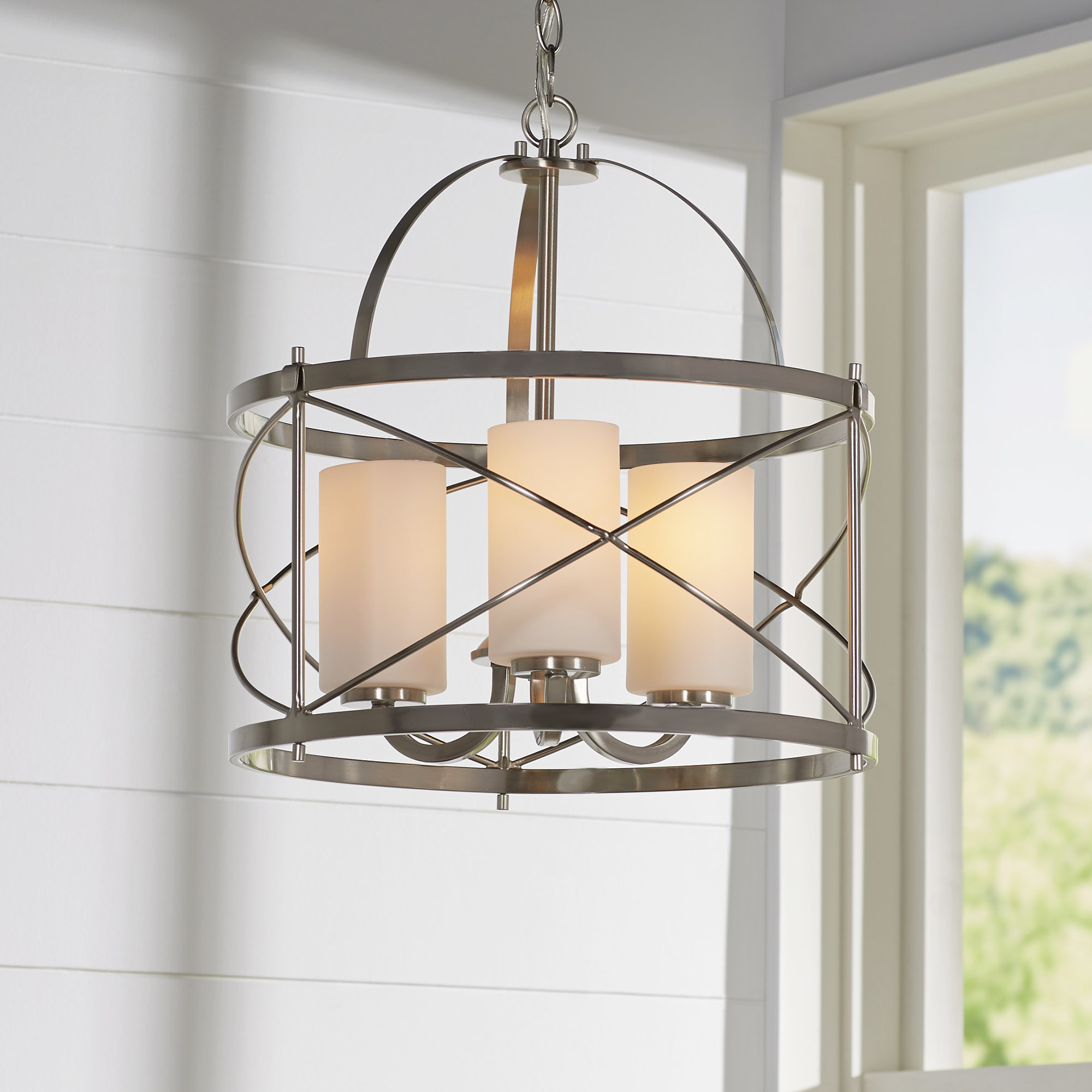Featured Photo of Farrier 3 Light Lantern Drum Pendants