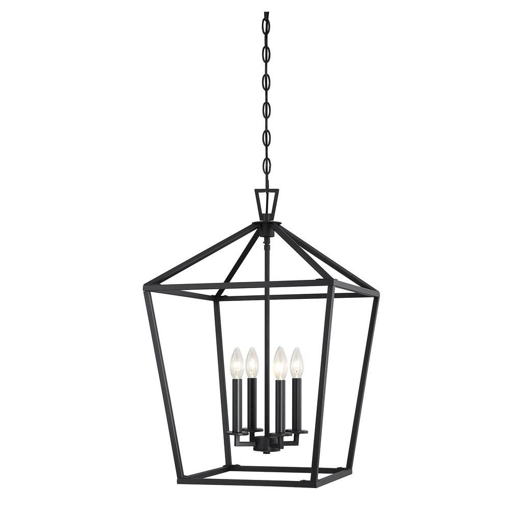 2020 Finnick 4 Light Foyer Pendants In Filament Design 4 Light Matte Black Pendant (View 16 of 20)