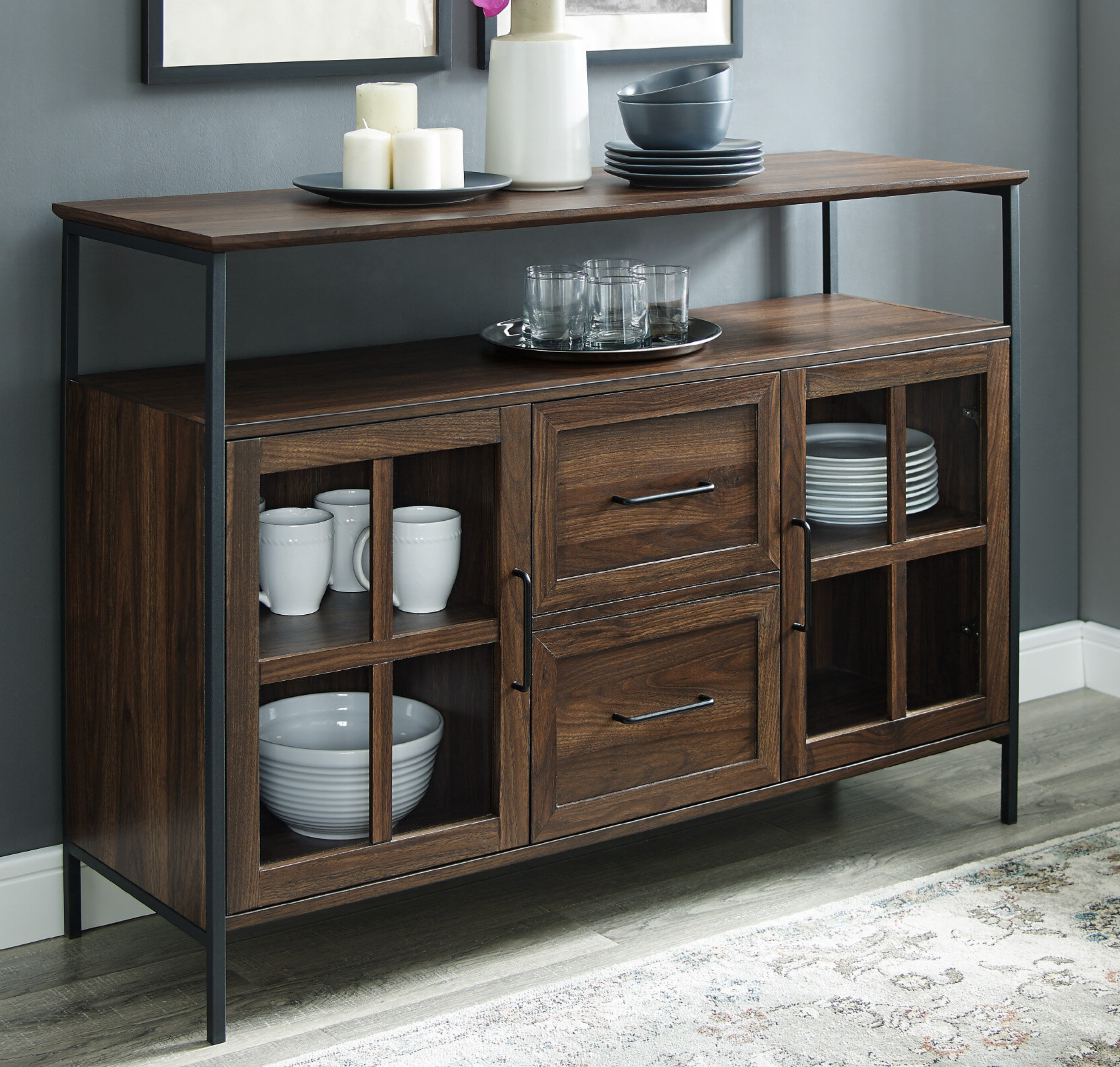 2020 Gracie Oaks Dostie Buffet Table & Reviews (View 12 of 20)