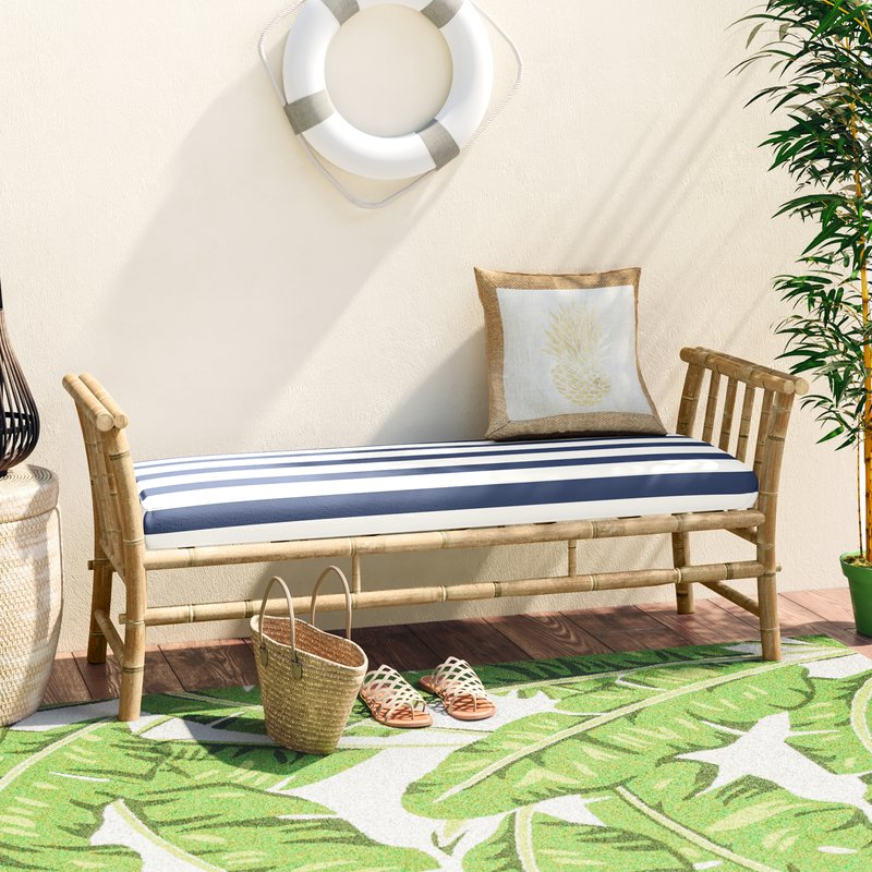 2020 Grosvenor Bamboo Patio Daybeds With Cushions Intended For Grosvenor Bamboo Patio Daybed With Mattress (Gallery 3 of 20)