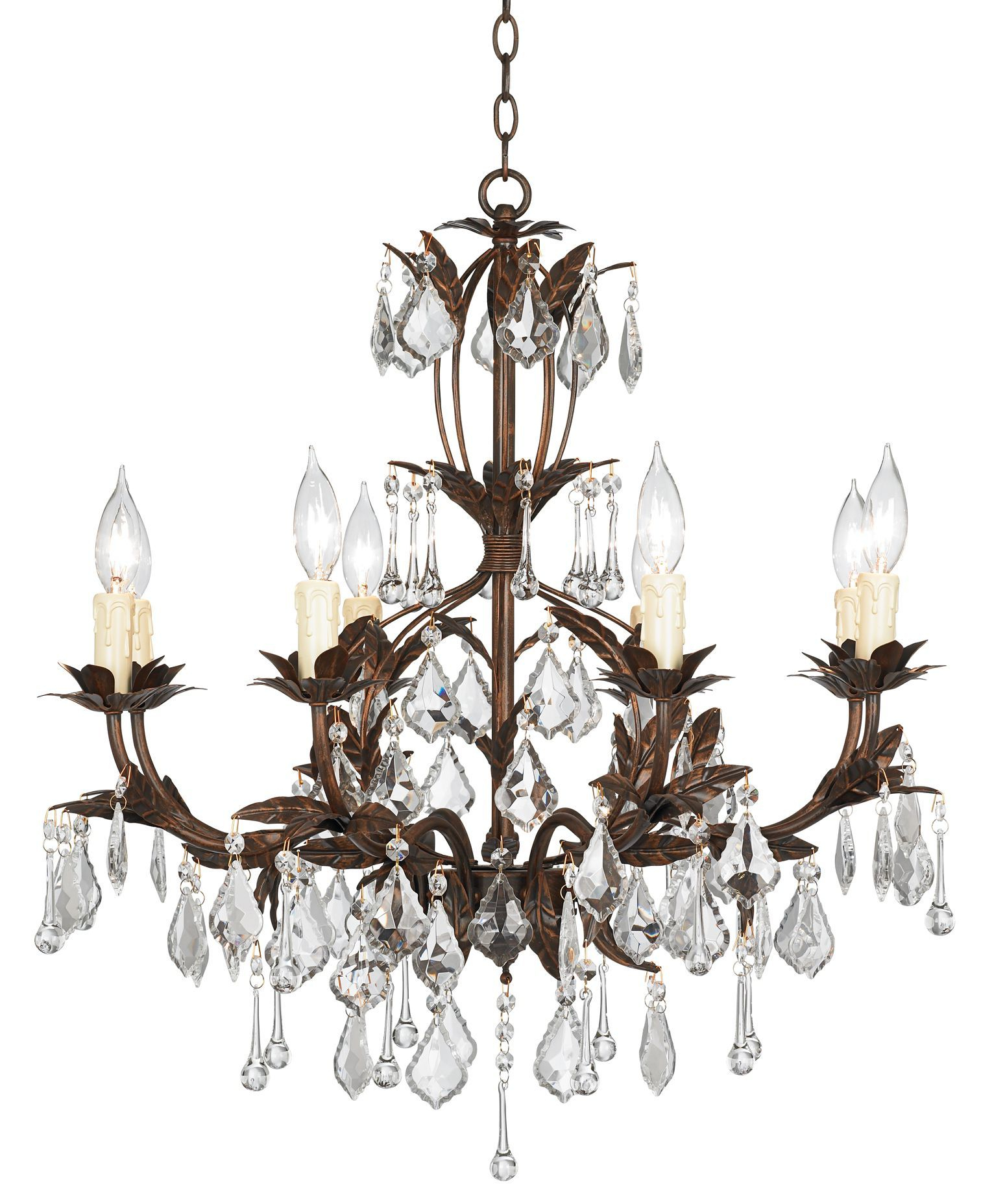 "2020 Hesse 5 Light Candle Style Chandeliers Regarding Kathy Ireland Venezia Bronze 8 Light 26"" Wide Chandelier (View 2 of 20)"