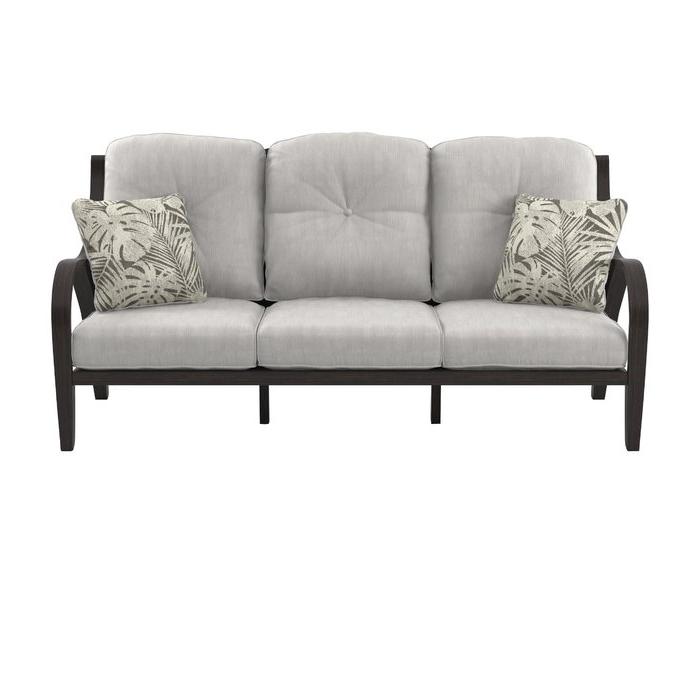 2020 Hursey Patio Sectionals Regarding Kohn Patio Sofa With Cushions (View 12 of 20)