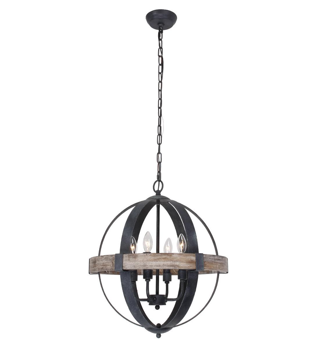 2020 La Sarre 3 Light Globe Chandeliers Regarding Hillsboro 4 Light Globe Chandelier (Gallery 10 of 20)