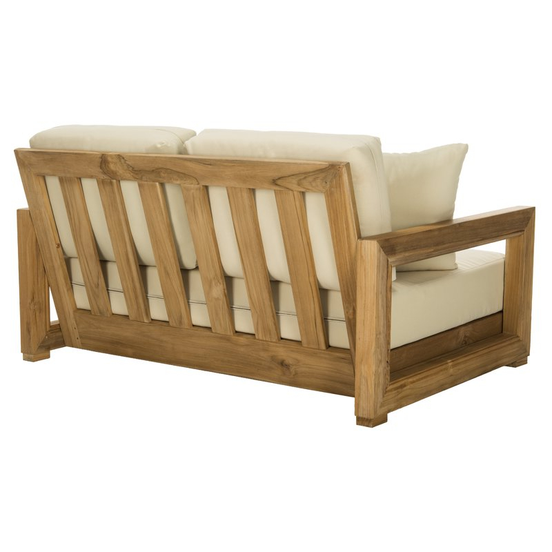 2020 Lakeland Teak Loveseat With Cushions With Lakeland Teak Loveseats With Cushions (View 1 of 20)