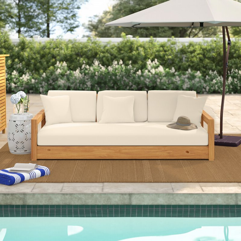 2020 Lakeland Teak Patio Sofa With Cushions With Regard To Lakeland Teak Patio Sofas With Cushions (View 1 of 20)