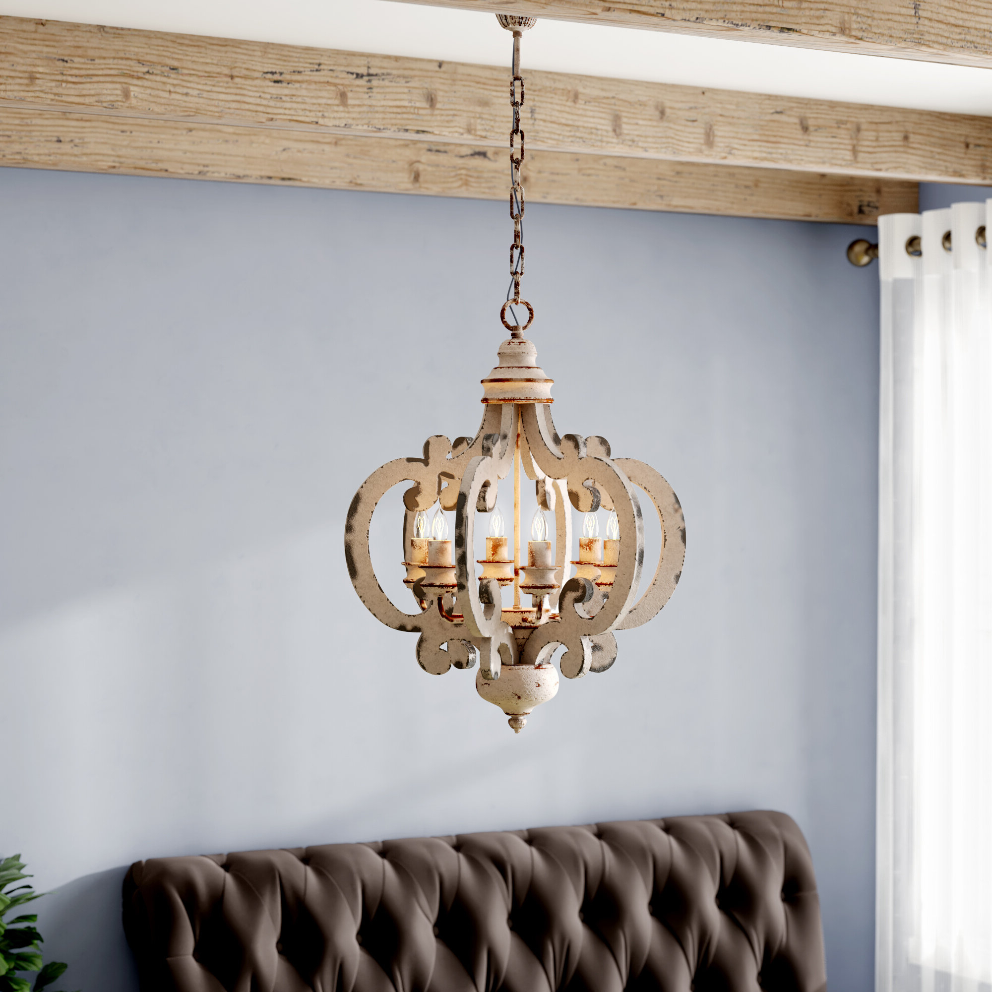 2020 Lark Manor Lynn 6 Light Geometric Chandelier Intended For Lynn 6 Light Geometric Chandeliers (View 3 of 20)
