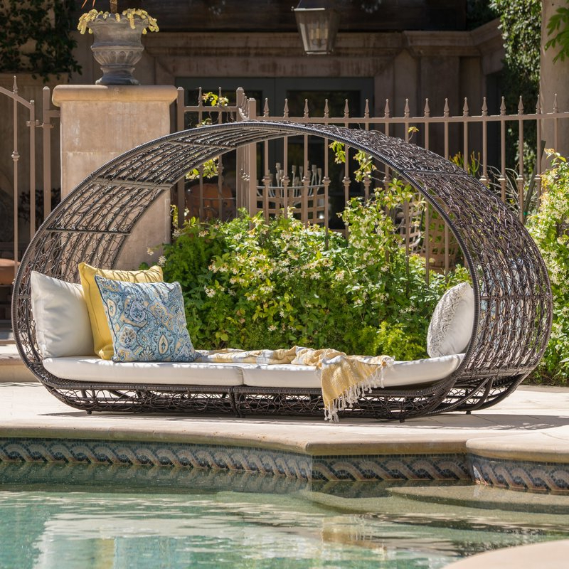 2020 Lavina Outdoor Patio Daybed With Cushions With Lavina Outdoor Patio Daybeds With Cushions (View 2 of 20)