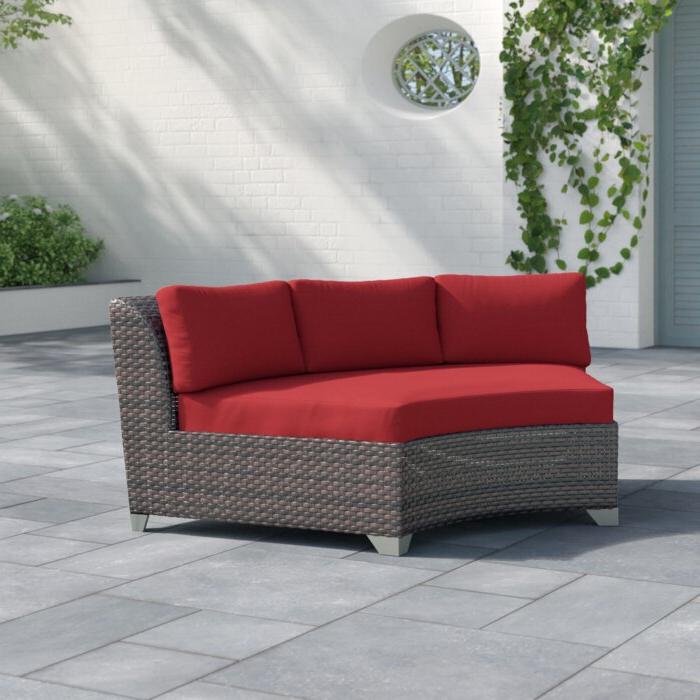 2020 Newbury Patio Sofas With Cushions Regarding Tegan Patio Sofa With Cushions (View 3 of 20)