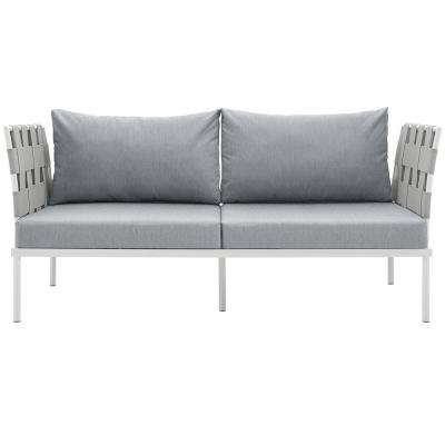 2020 Real Flame Baltic White Powder Coated Aluminum Outdoor Intended For Baltic Loveseats With Cushions (Gallery 8 of 20)