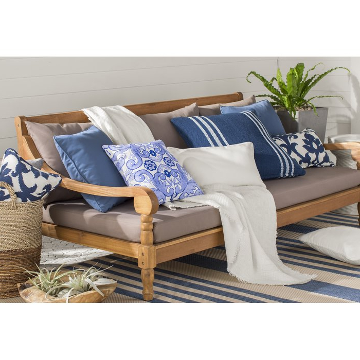 2020 Roush Teak Patio Daybed With Cushions With Roush Teak Patio Daybeds With Cushions (View 1 of 20)