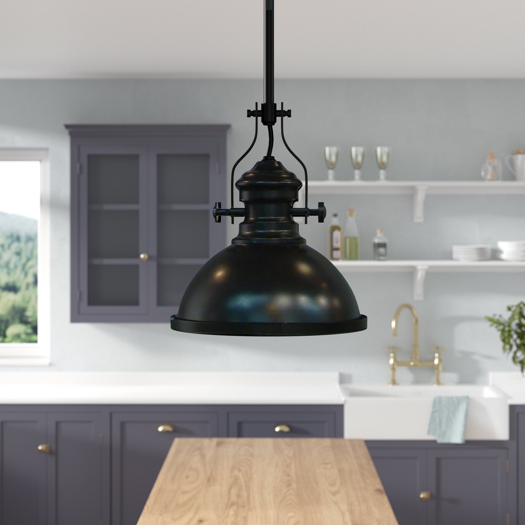 2020 Sorrells 1 Light Single Dome Pendant Pertaining To Hamilton 1 Light Single Dome Pendants (Gallery 5 of 20)