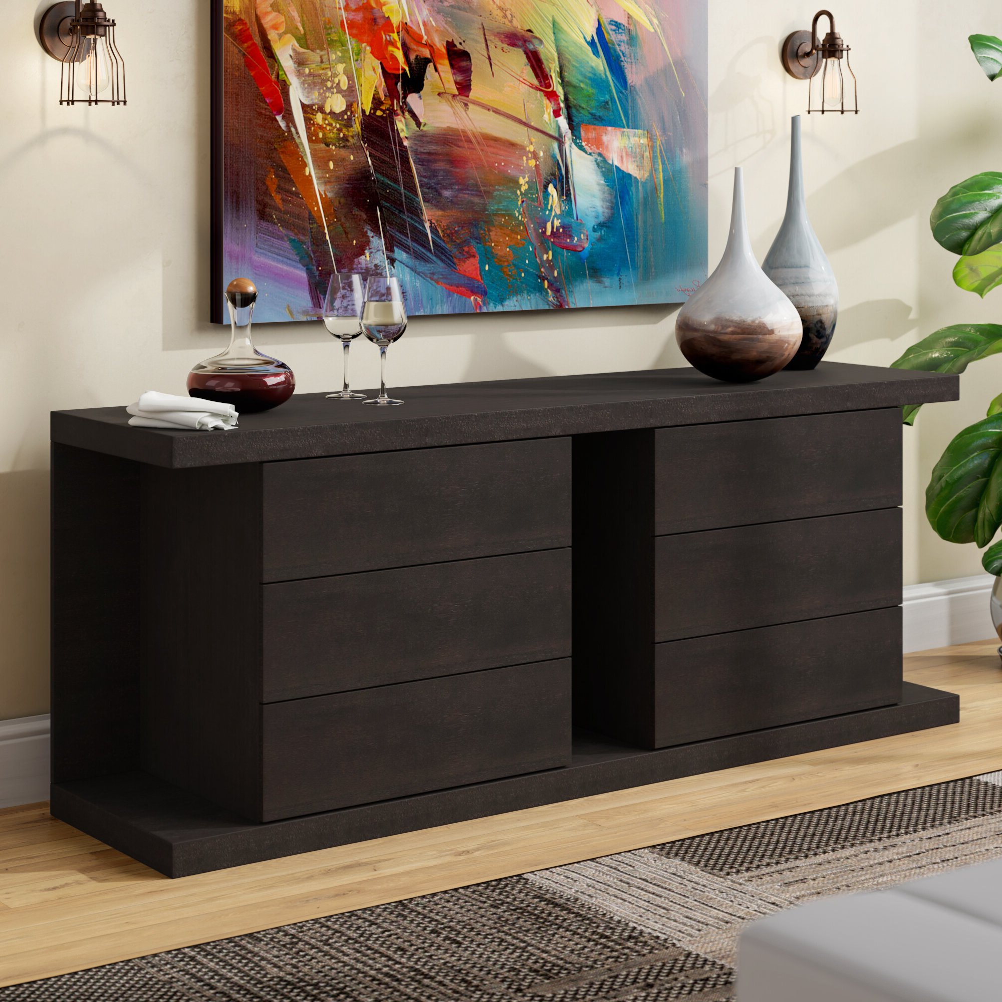 2020 Thite Sideboard In Thite Sideboards (Gallery 1 of 20)