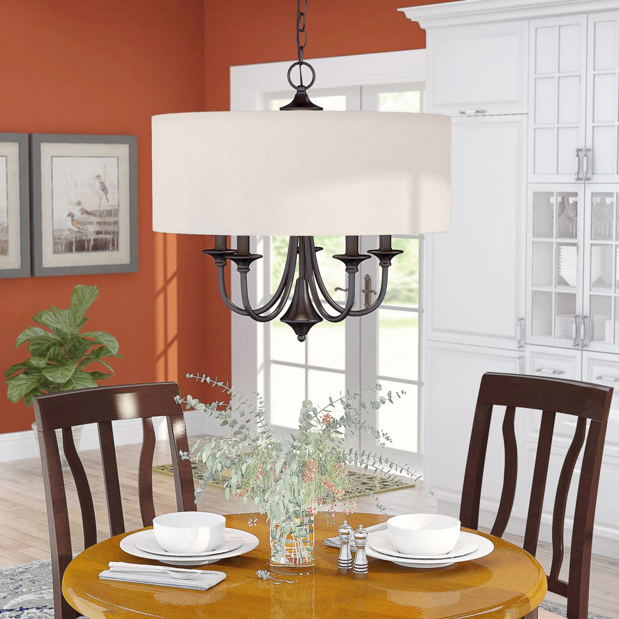 2020 Wadlington 5 Light Drum Chandelier Intended For Wadlington 6 Light Single Cylinder Pendants (Gallery 5 of 20)