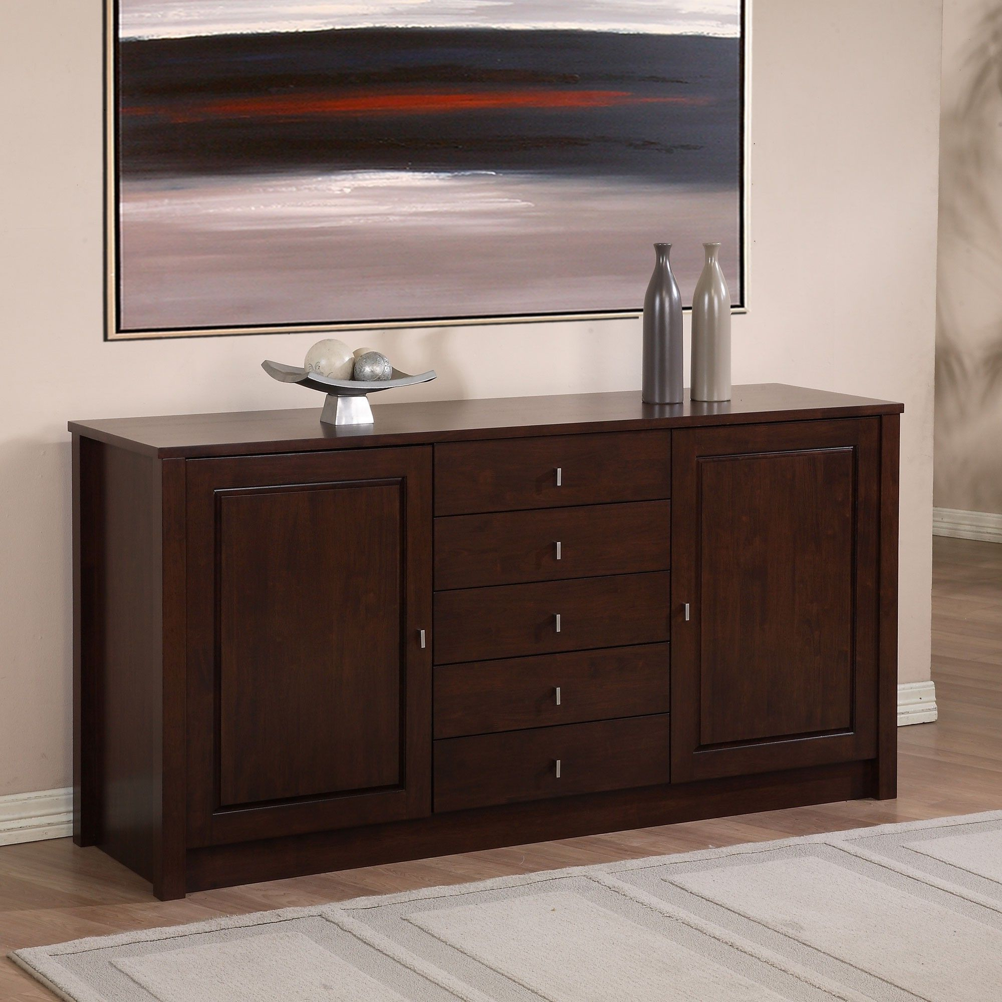 2020 With Nickel Finish Hardware Accenting A Unique Wenge Finish Intended For Tribeca Sideboards (View 1 of 20)