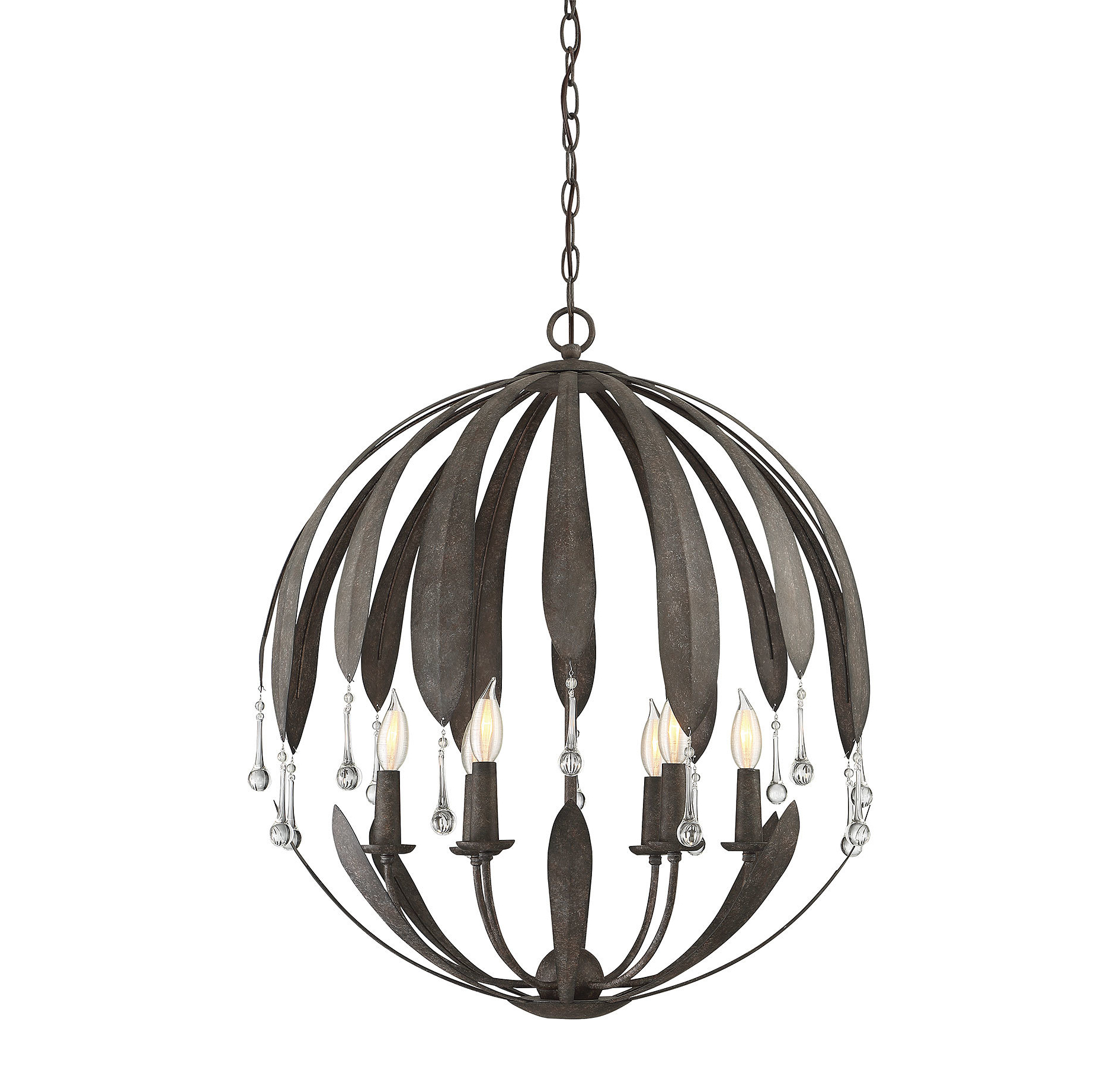 2020 Wyant 6 Light Chandelier Intended For Morganti 4 Light Chandeliers (View 2 of 20)