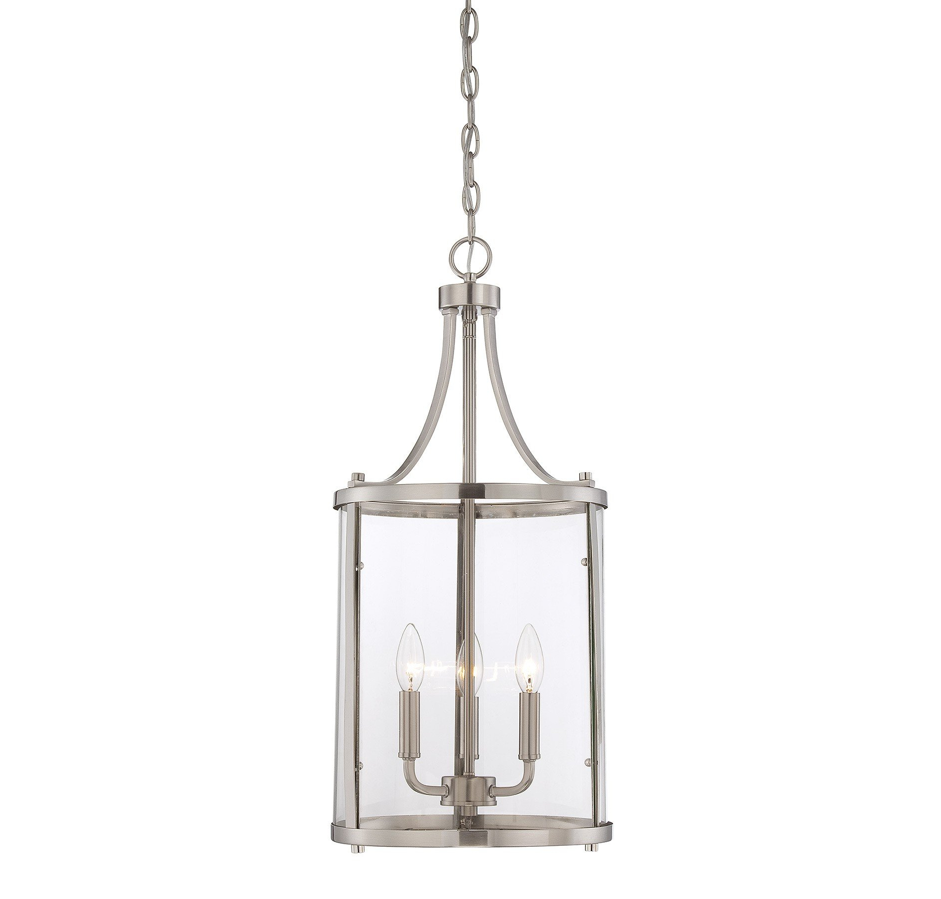 3 Light Lantern Cylinder Pendant With Most Recent Tessie 3 Light Lantern Cylinder Pendants (View 4 of 20)