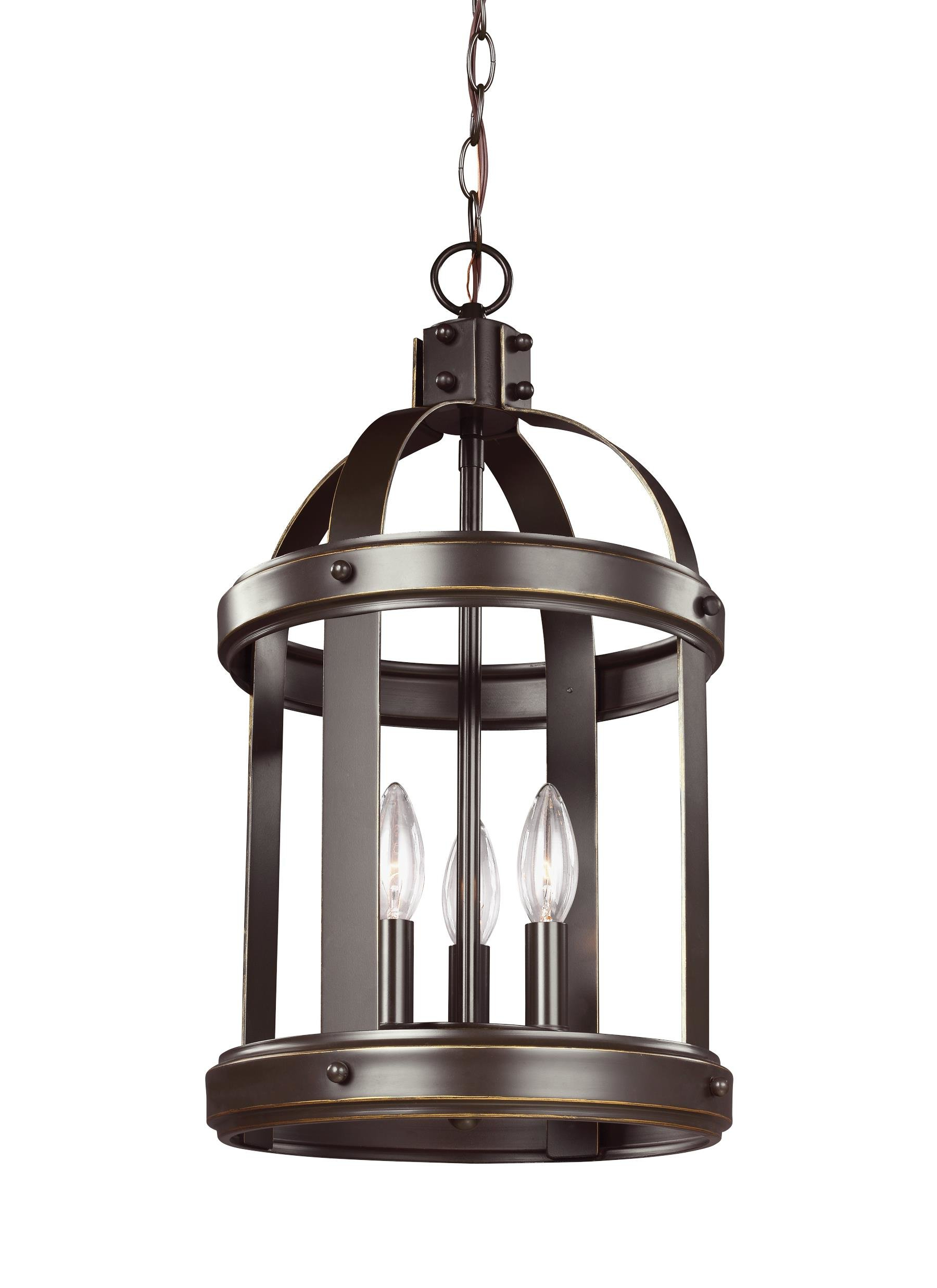 3 Light Lantern Cylinder Pendants Pertaining To Well Known Pawling 3 Light Lantern Cylinder Pendant (View 4 of 20)
