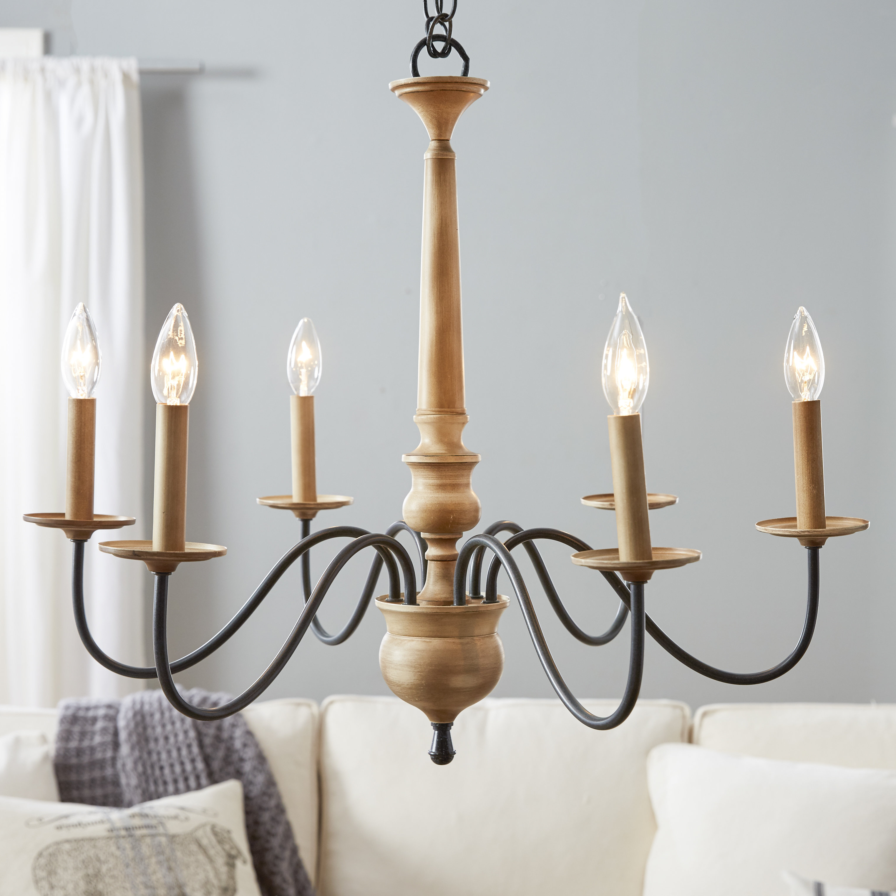 6 Light Candle Style Chandelier Pertaining To Well Known Shaylee 6 Light Candle Style Chandeliers (View 2 of 20)