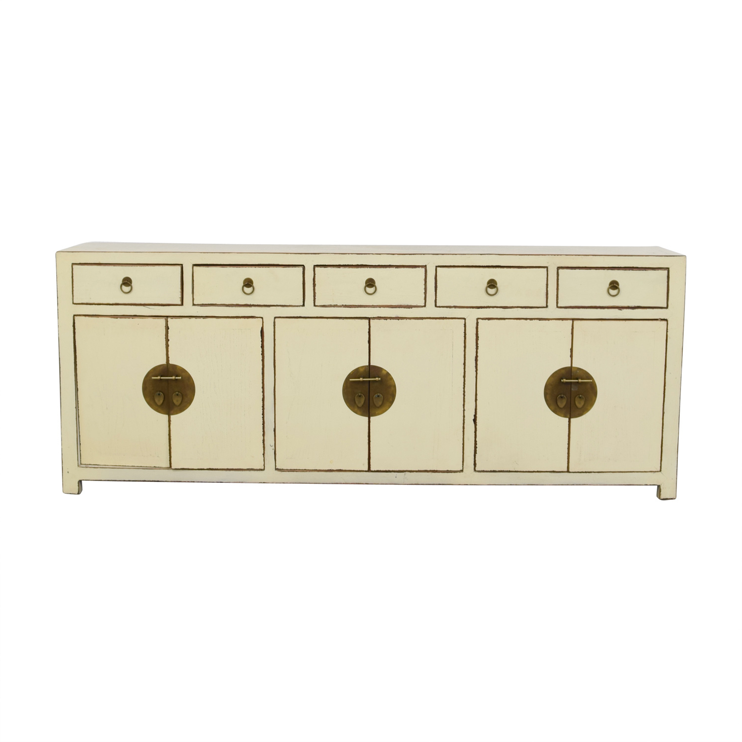 [%72% Off – Asian Barn Asian Barn Custom Cream Five Drawer Sideboard With  Shelves / Storage Throughout Preferred Seven Seas Asian Sideboards|Seven Seas Asian Sideboards Within Most Current 72% Off – Asian Barn Asian Barn Custom Cream Five Drawer Sideboard With  Shelves / Storage|Famous Seven Seas Asian Sideboards Within 72% Off – Asian Barn Asian Barn Custom Cream Five Drawer Sideboard With  Shelves / Storage|2019 72% Off – Asian Barn Asian Barn Custom Cream Five Drawer Sideboard With  Shelves / Storage In Seven Seas Asian Sideboards%] (View 4 of 20)