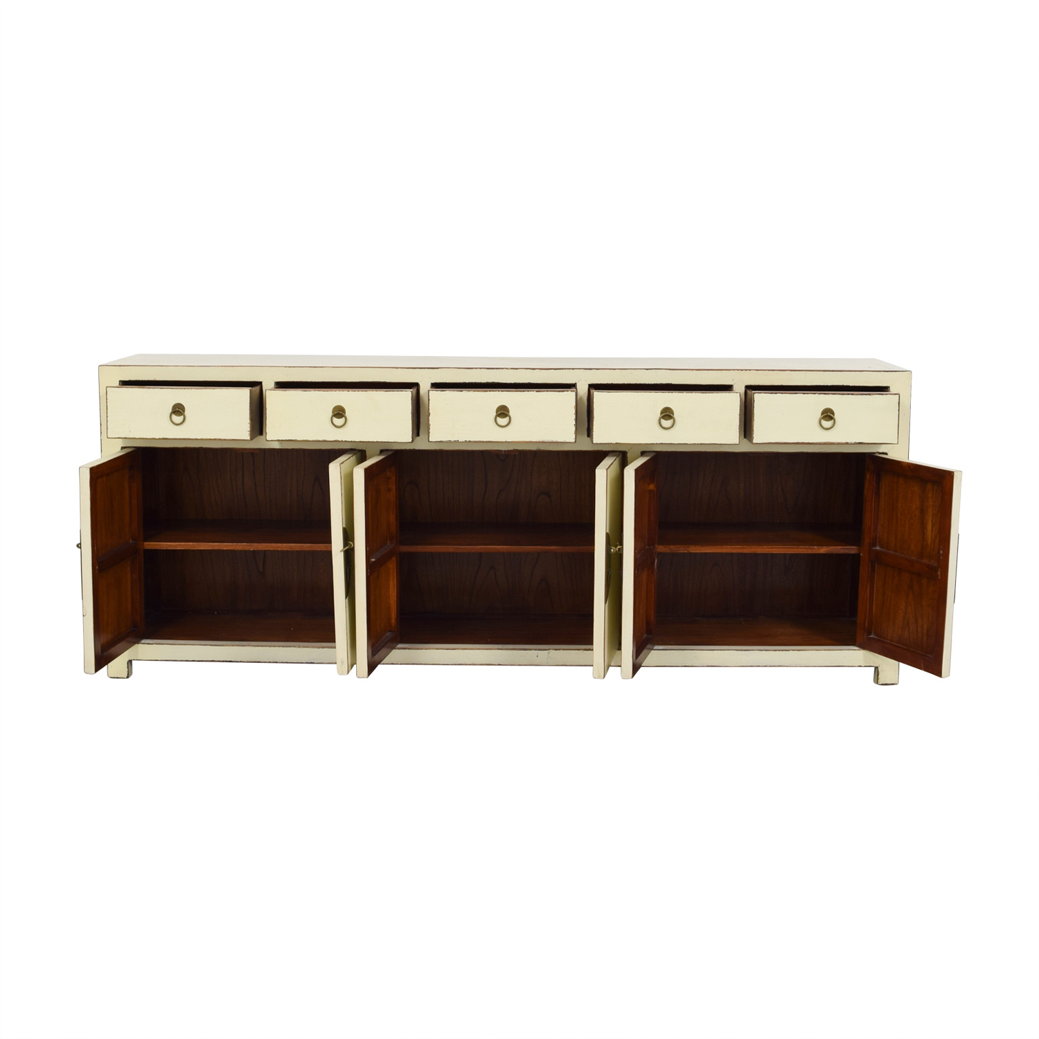 [%72% Off – Asian Barn Asian Barn Custom Cream Five Drawer Sideboard With  Shelves / Storage With Regard To Most Current Seven Seas Asian Sideboards|Seven Seas Asian Sideboards For Recent 72% Off – Asian Barn Asian Barn Custom Cream Five Drawer Sideboard With  Shelves / Storage|Latest Seven Seas Asian Sideboards Throughout 72% Off – Asian Barn Asian Barn Custom Cream Five Drawer Sideboard With  Shelves / Storage|Most Popular 72% Off – Asian Barn Asian Barn Custom Cream Five Drawer Sideboard With  Shelves / Storage Regarding Seven Seas Asian Sideboards%] (View 5 of 20)