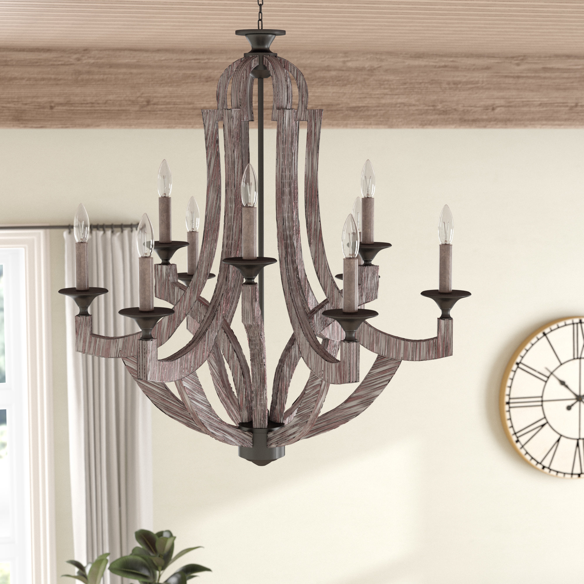9 Light Candle Chandeliers (Gallery 9 of 20)