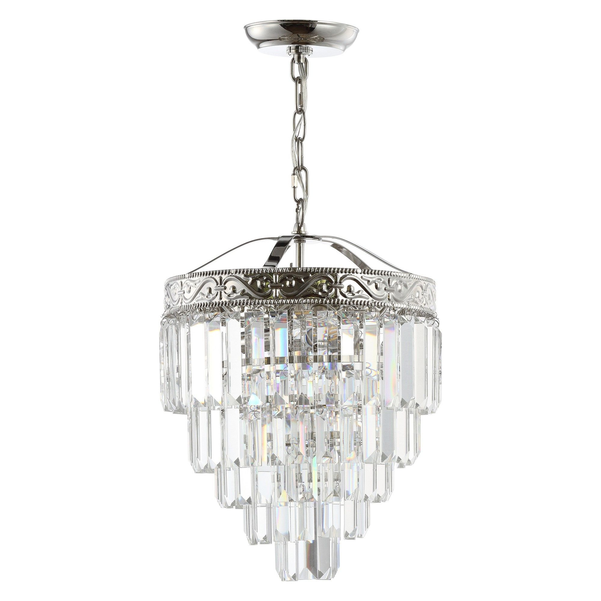 """Abel 5 Light Drum Chandeliers With Most Popular 12"""" Wyatt 2 Light Crystal Led Chandelier Brushed Nickel (View 4 of 20)"""