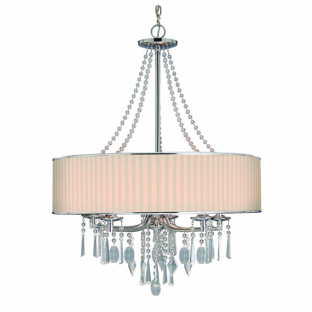 Abel 5 Light Drum Chandeliers With Newest Golden Lighting 89815Bri Chandelier With Crystal And Bridal (View 5 of 20)