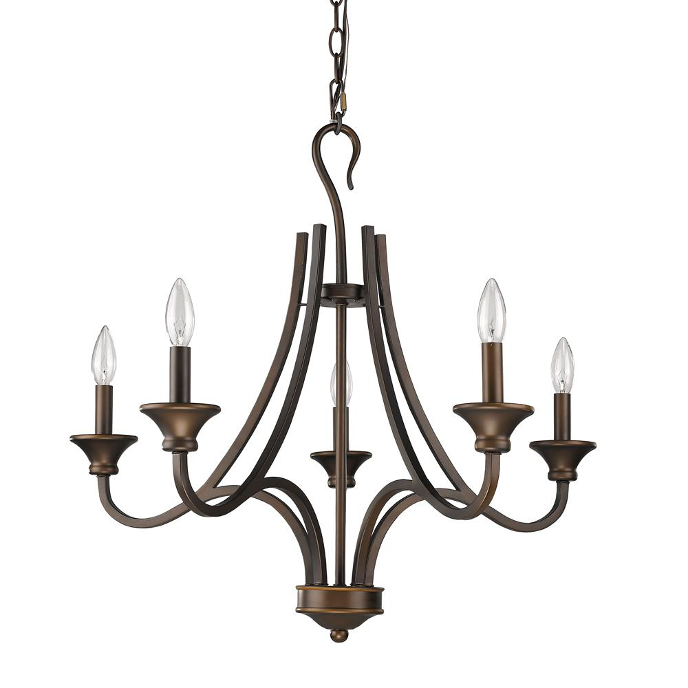 Acclaim Lighting Michelle Indoor 5 Light Oil Rubbed Bronze Chandelier With Regard To Well Liked Kenedy 9 Light Candle Style Chandeliers (View 1 of 20)