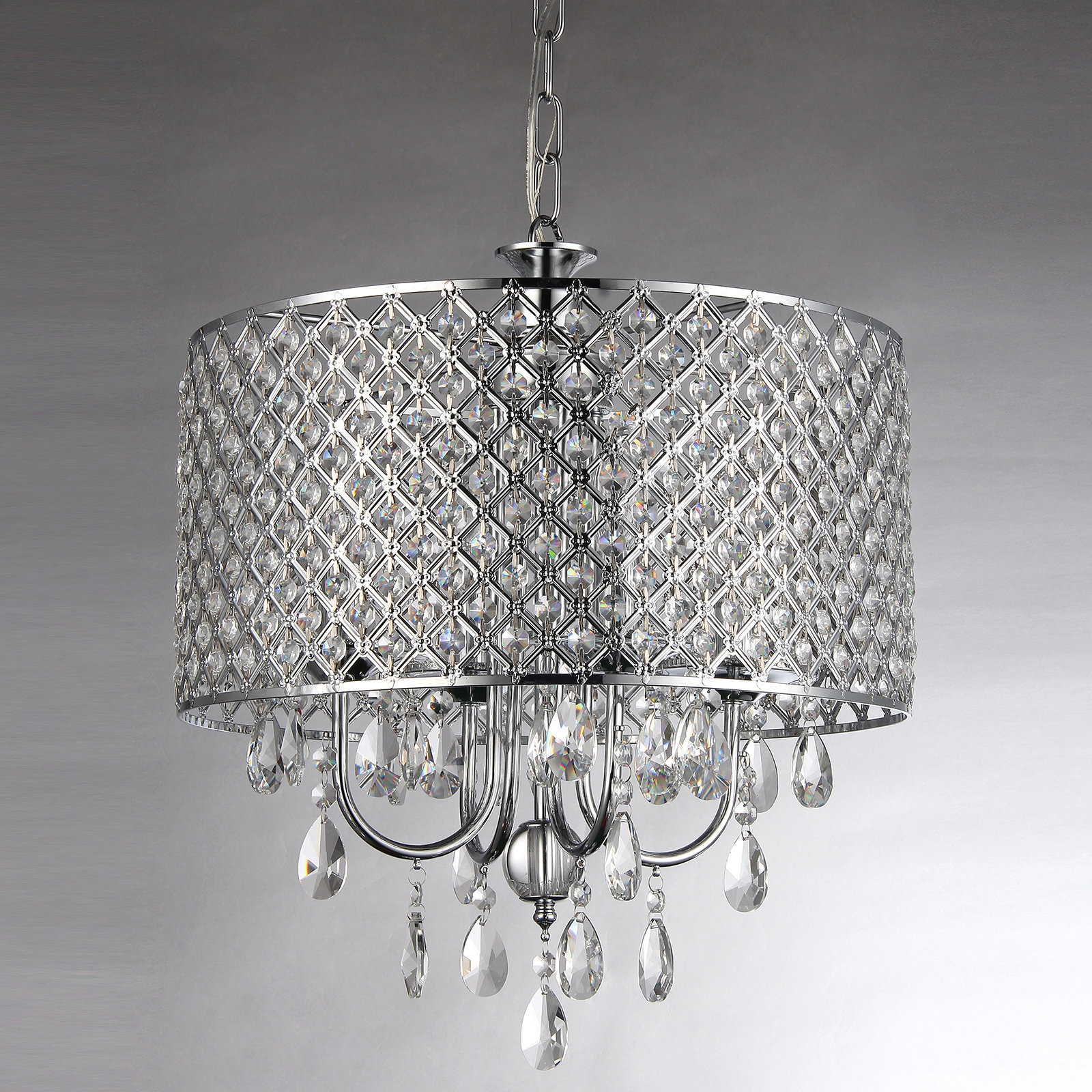 Albano 4 Light Crystal Chandeliers Within Well Liked Afaura 4 Light Crystal Chandelier (View 5 of 20)