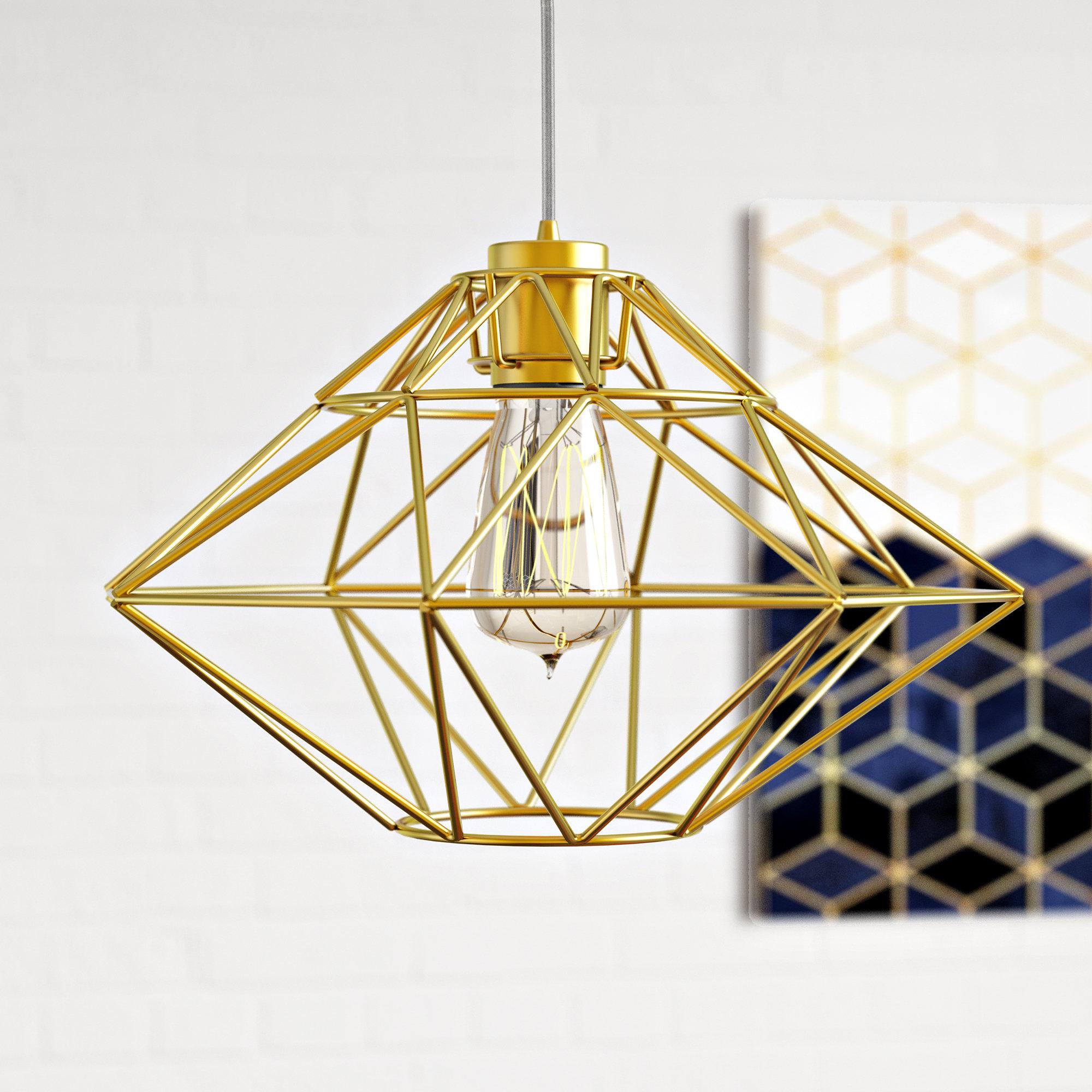 Alcorn Lake 1 Light Geometric Pendant For 2020 Hydetown 1 Light Single Geometric Pendants (Gallery 5 of 20)