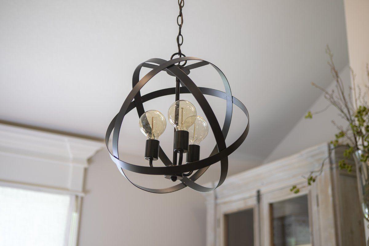Alden 3 Light Single Globe Pendants Inside Most Up To Date Fordwich 3 Light Globe Chandelier (View 8 of 20)
