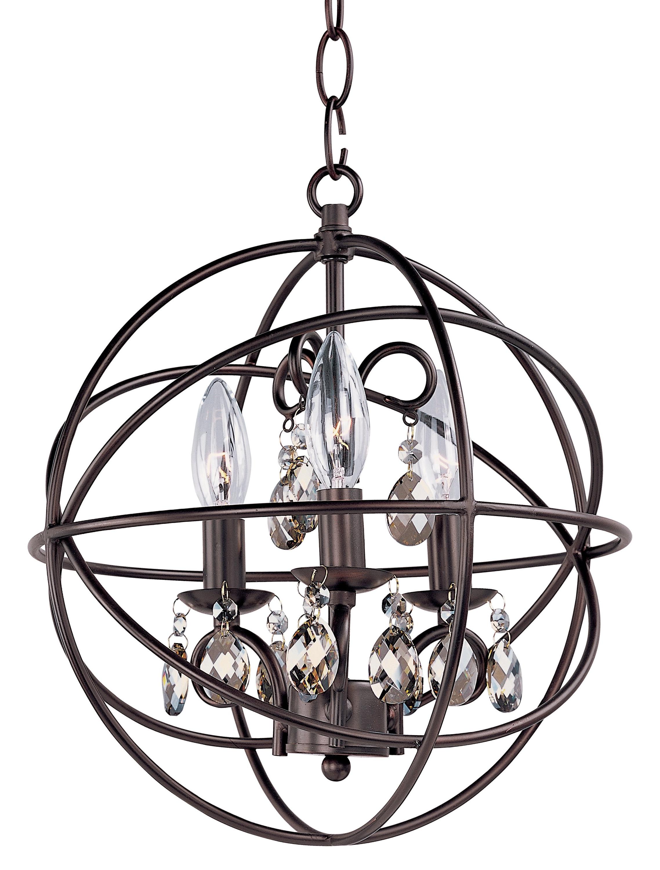 Alden 3 Light Single Globe Pendants Throughout Fashionable Alden 3 Light Single Globe Pendant (Gallery 1 of 20)