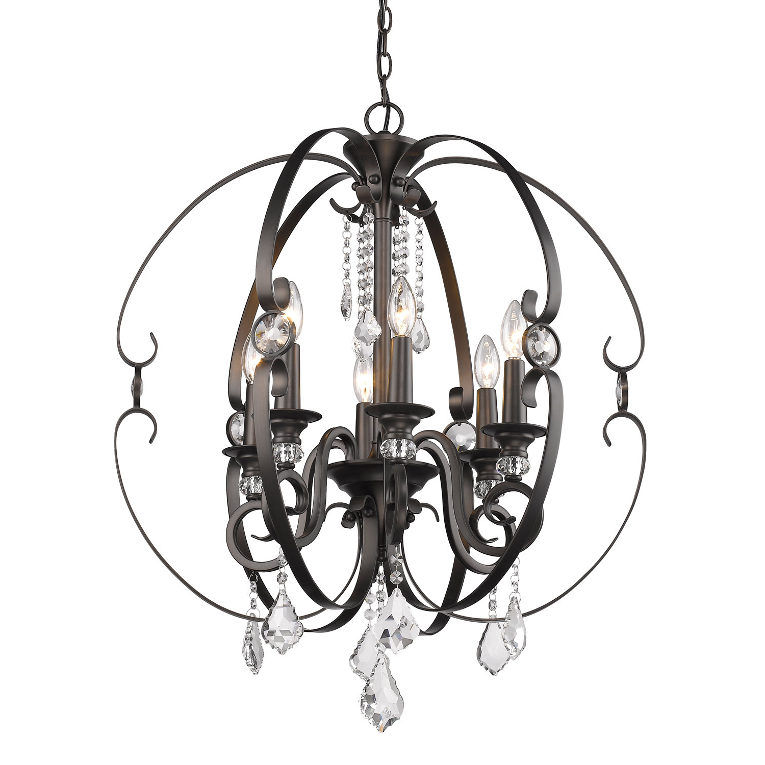 Alden 6 Light Globe Chandeliers Intended For 2020 Hardouin 6 Light Globe Chandelier (Gallery 8 of 20)