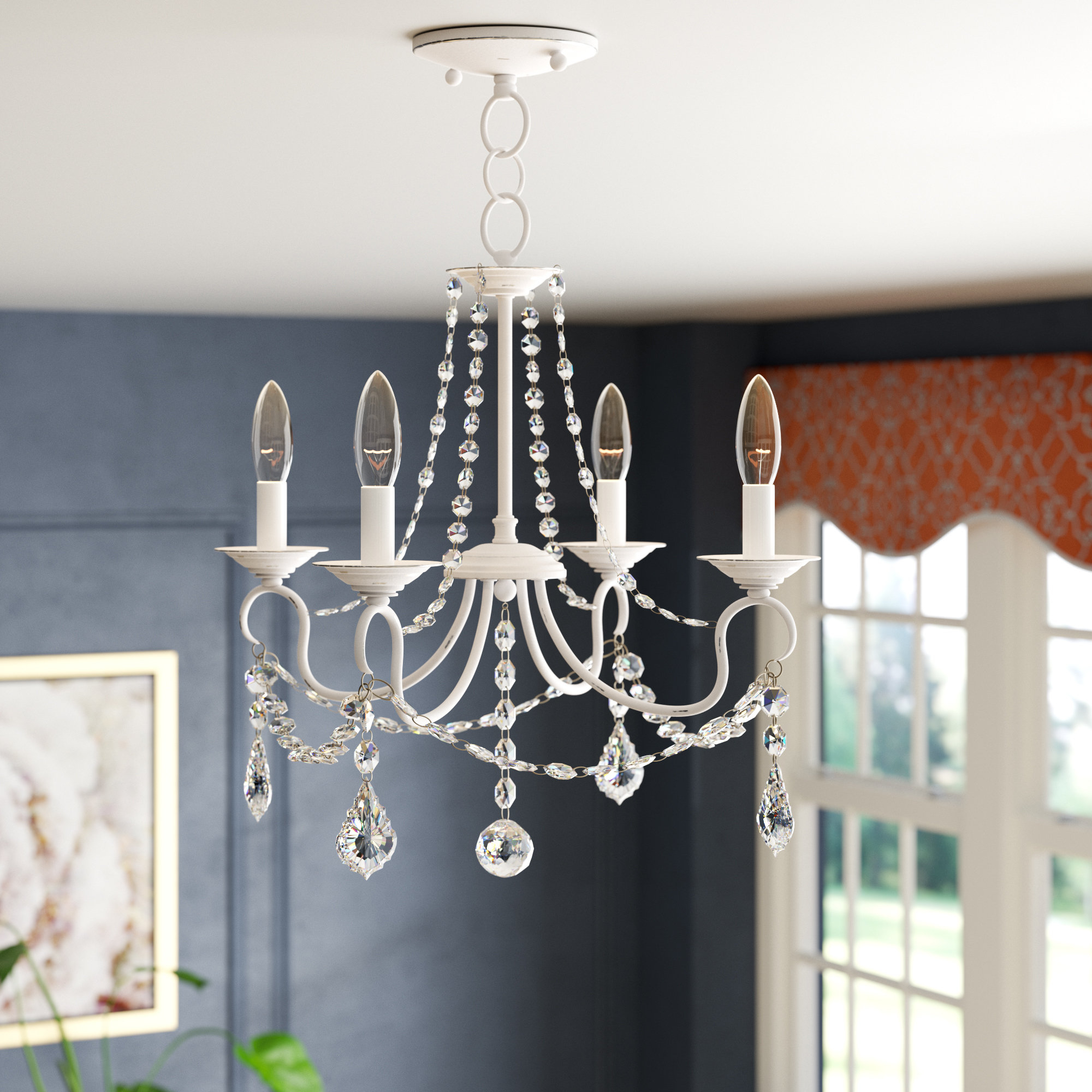 Aldora 4 Light Candle Style Chandeliers For Most Current Devana 4 Light Candle Style Chandelier (View 6 of 20)