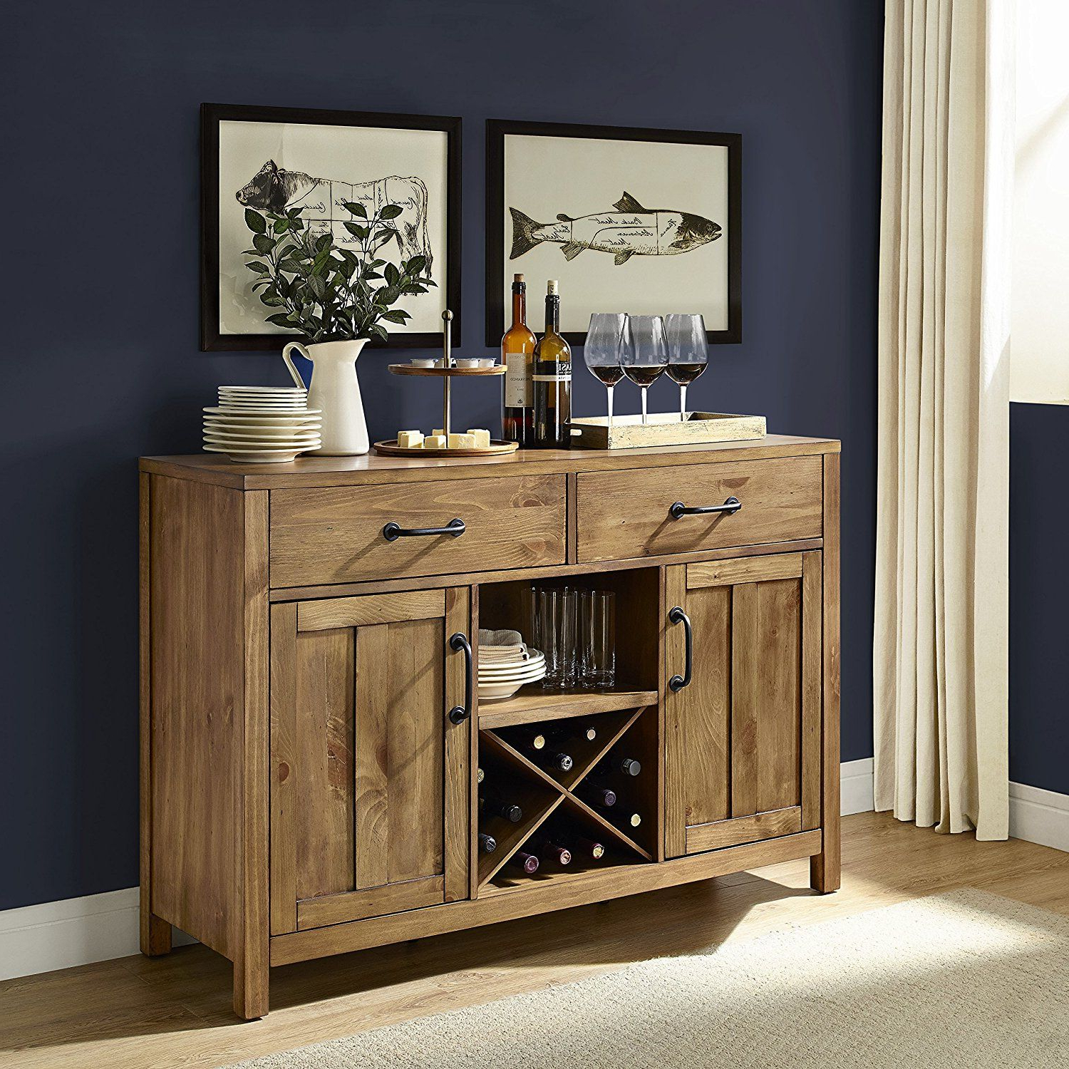 Alegre Sideboards In Current Crosley Furniture Roots Buffet Dining Room Storage – Natural (View 1 of 20)