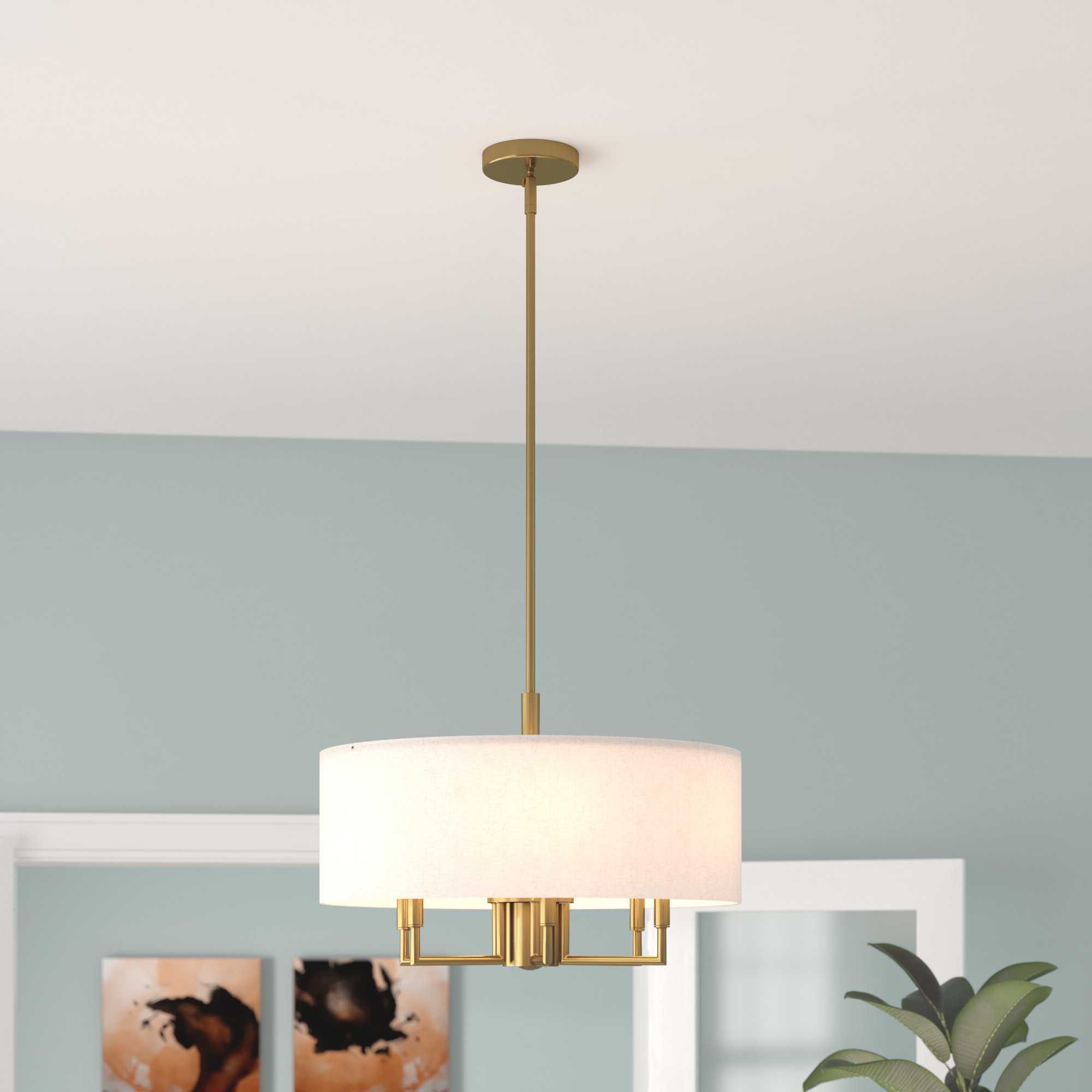 Alina 5 Light Drum Chandeliers Pertaining To Well Liked Ivy Bronx Alina 6 Light Drum Chandelier & Reviews (View 7 of 20)