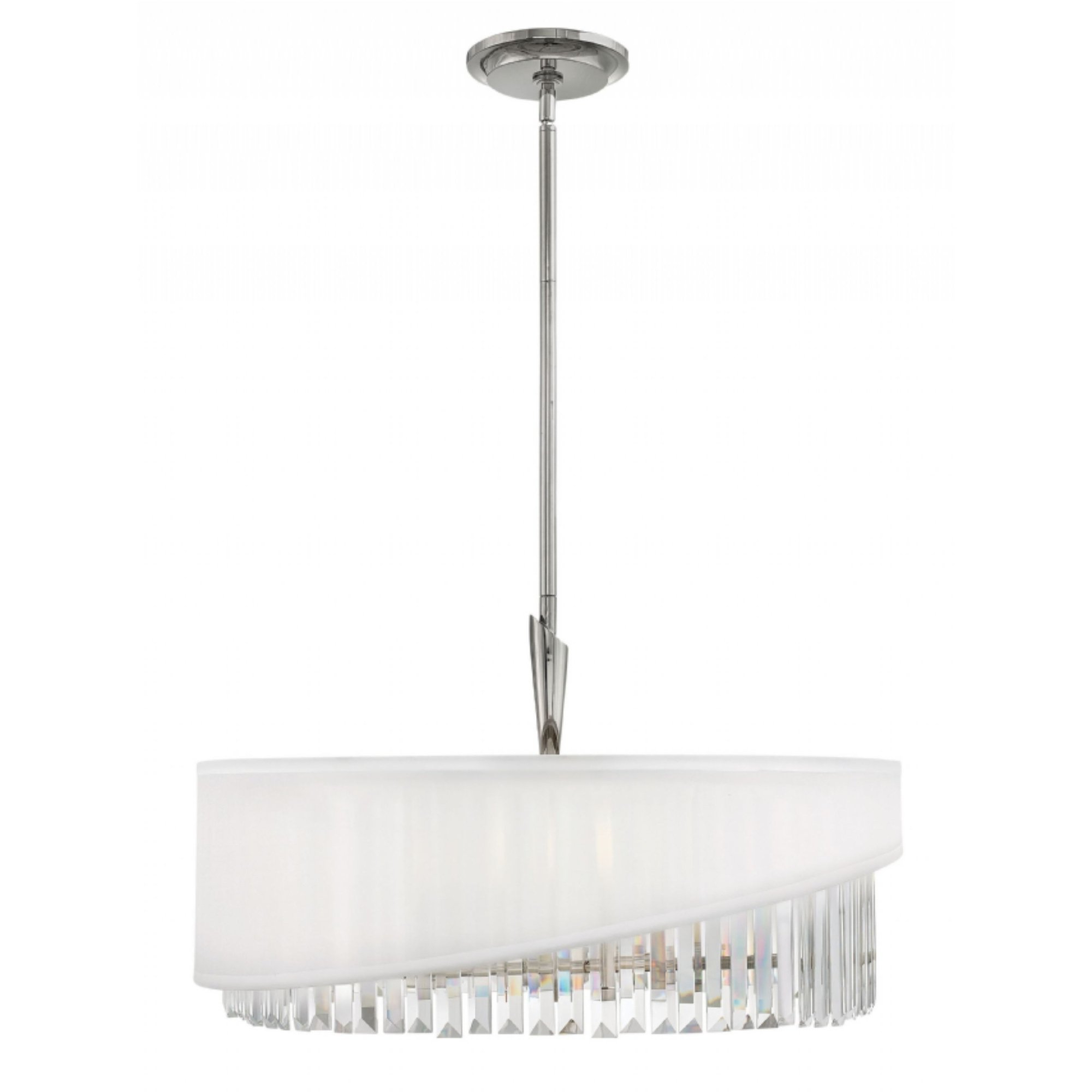 Alina 5 Light Drum Chandeliers With Well Liked Fredrick Ramond Gigi 5 Light Chandelier In Polished Nickel (View 8 of 20)