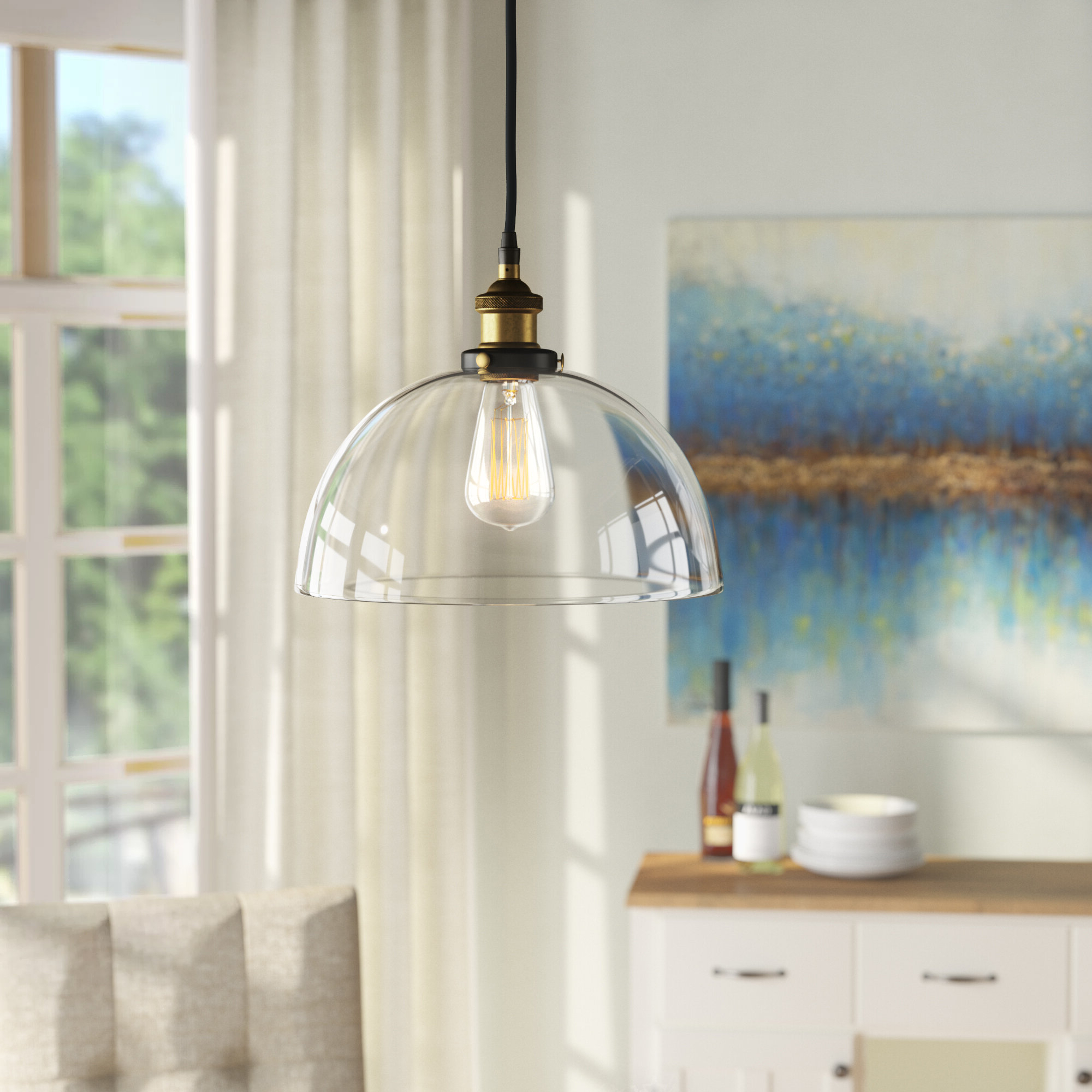Amador 1 Light Dome Pendant With Regard To Widely Used Ninette 1 Light Dome Pendants (Gallery 13 of 20)