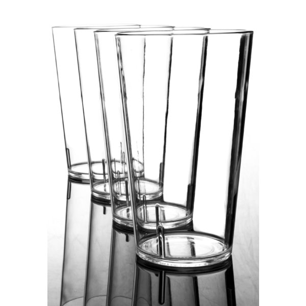 Amazing Miser 24 Oz. Plastic Drinking Glass (set Of 4) Regarding Fashionable Keever Patio Sofas With Sunbrella Cushions (Gallery 17 of 20)