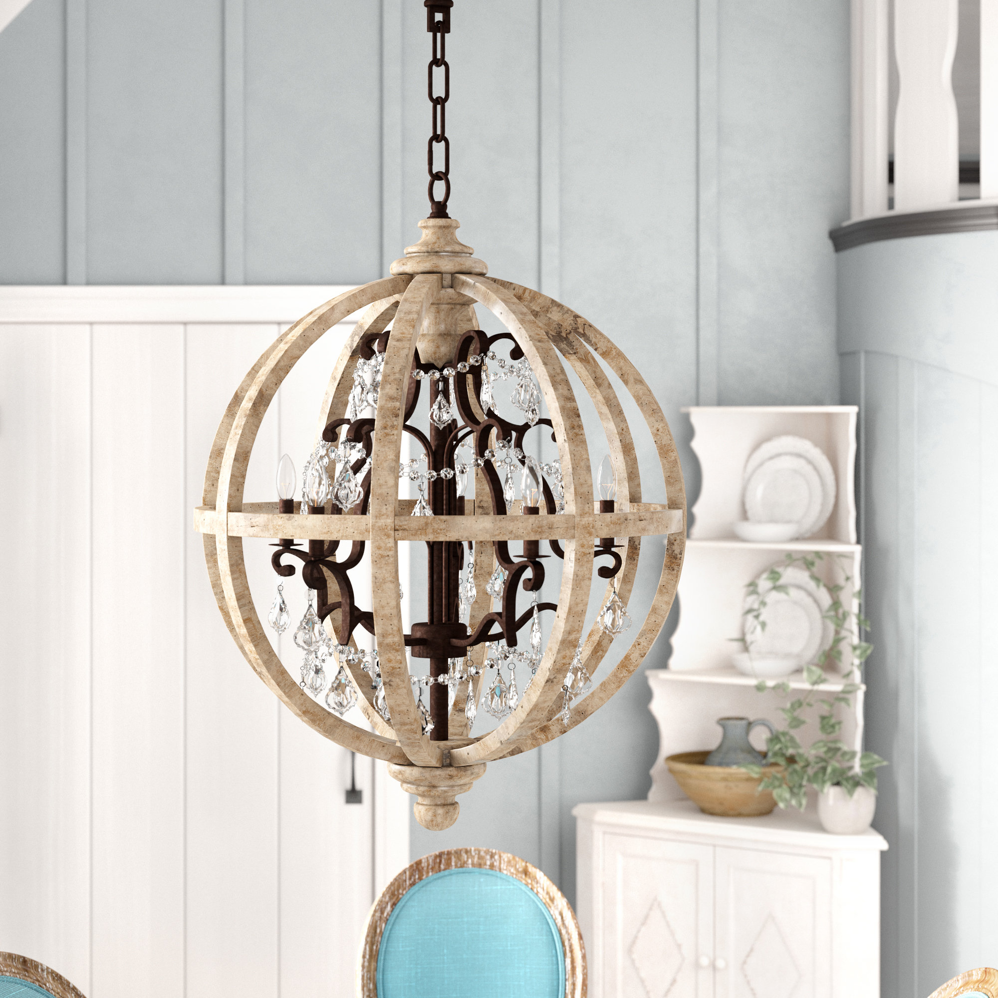Andreana 5 Light Globe Chandelier Pertaining To Latest Filipe Globe Chandeliers (View 2 of 20)