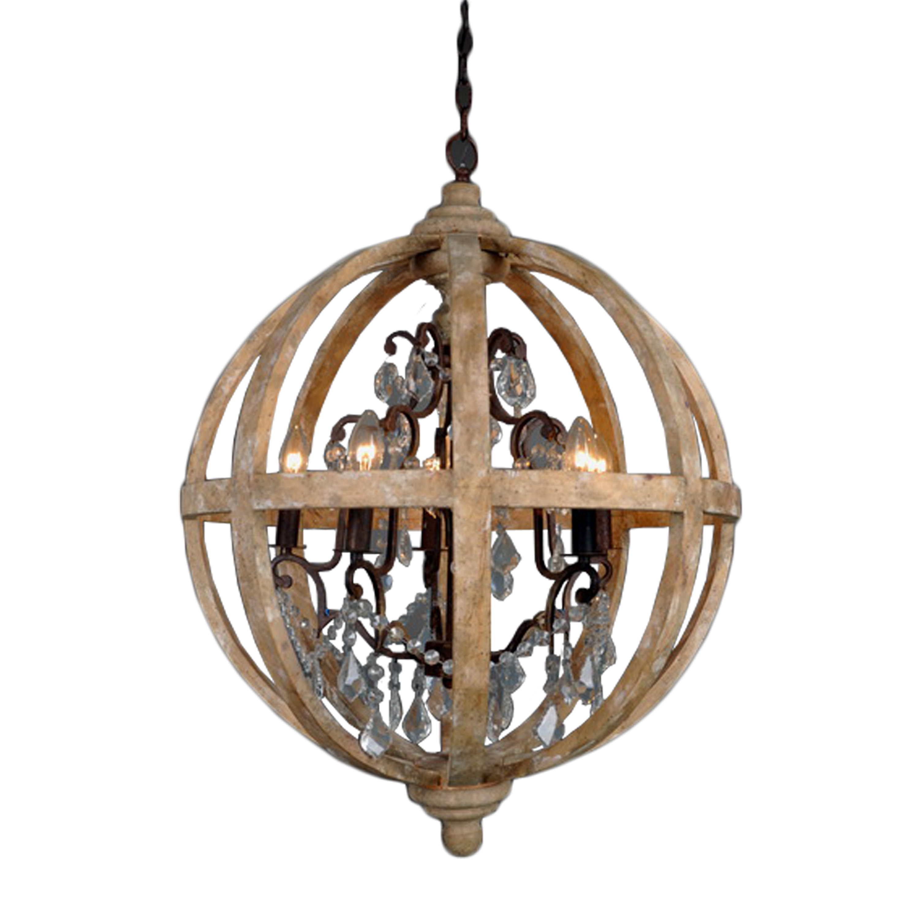 Andreana 5 Light Globe Chandelier With Most Current Filipe Globe Chandeliers (Gallery 13 of 20)