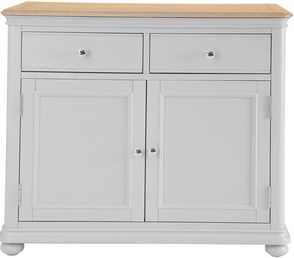 Annecy Sideboards With Regard To Most Popular Annecy Medium Sideboard – Oak And Soft Grey Painted (Gallery 5 of 20)