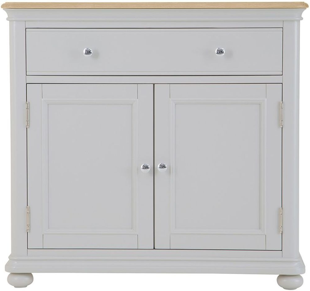 Annecy Small Sideboard – Oak And Soft Grey Painted Intended For Trendy Annecy Sideboards (View 6 of 20)