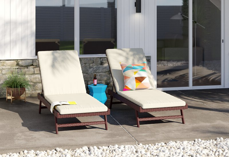 Antonia Double Reclining Teak Chaise Lounge With Cushion Within Most Up To Date Antonia Teak Patio Sectionals With Cushions (View 2 of 20)