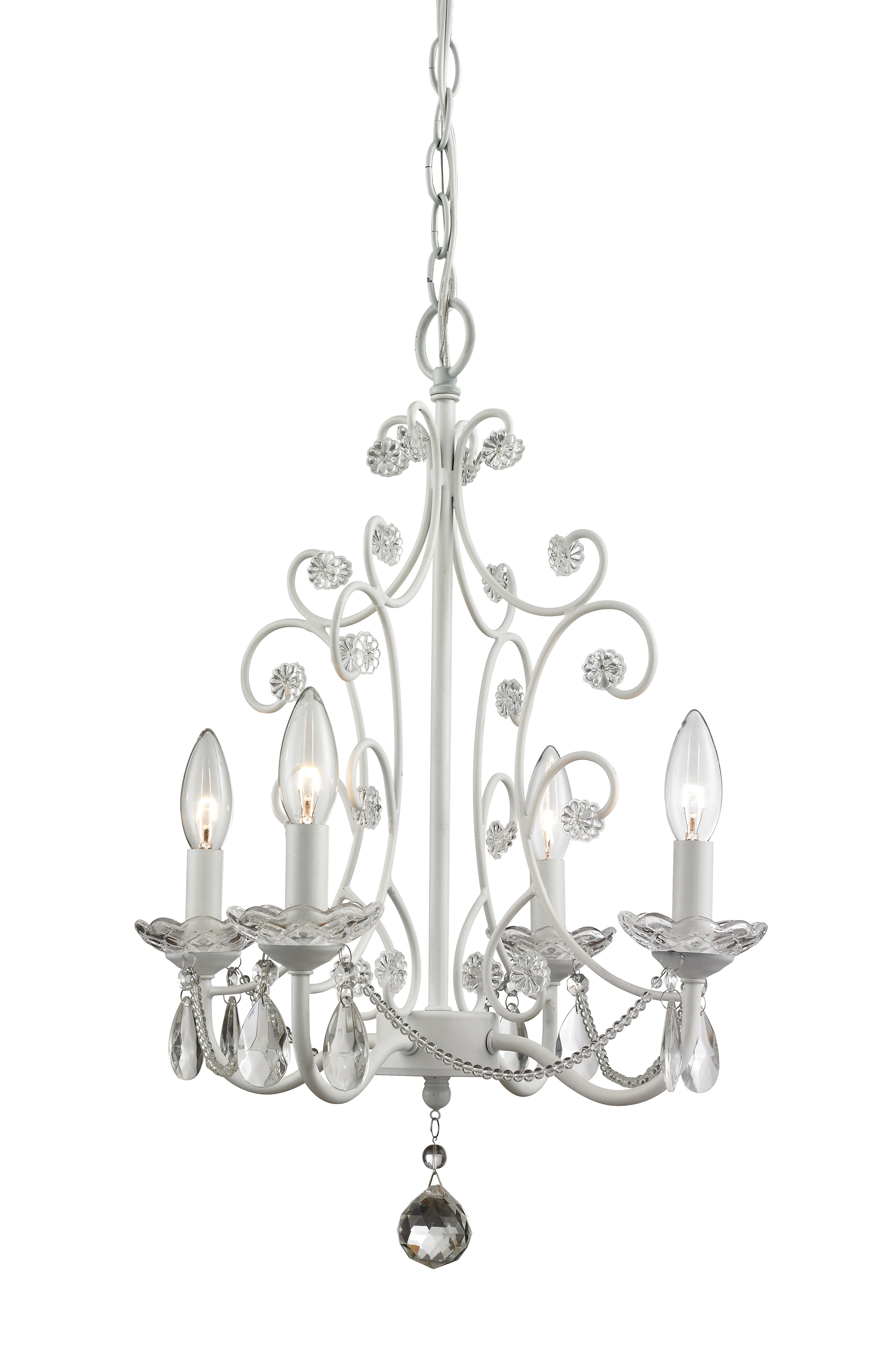 Aquilla 4 Light Candle Style Chandelier With Regard To Famous Oriana 4 Light Single Geometric Chandeliers (View 11 of 20)