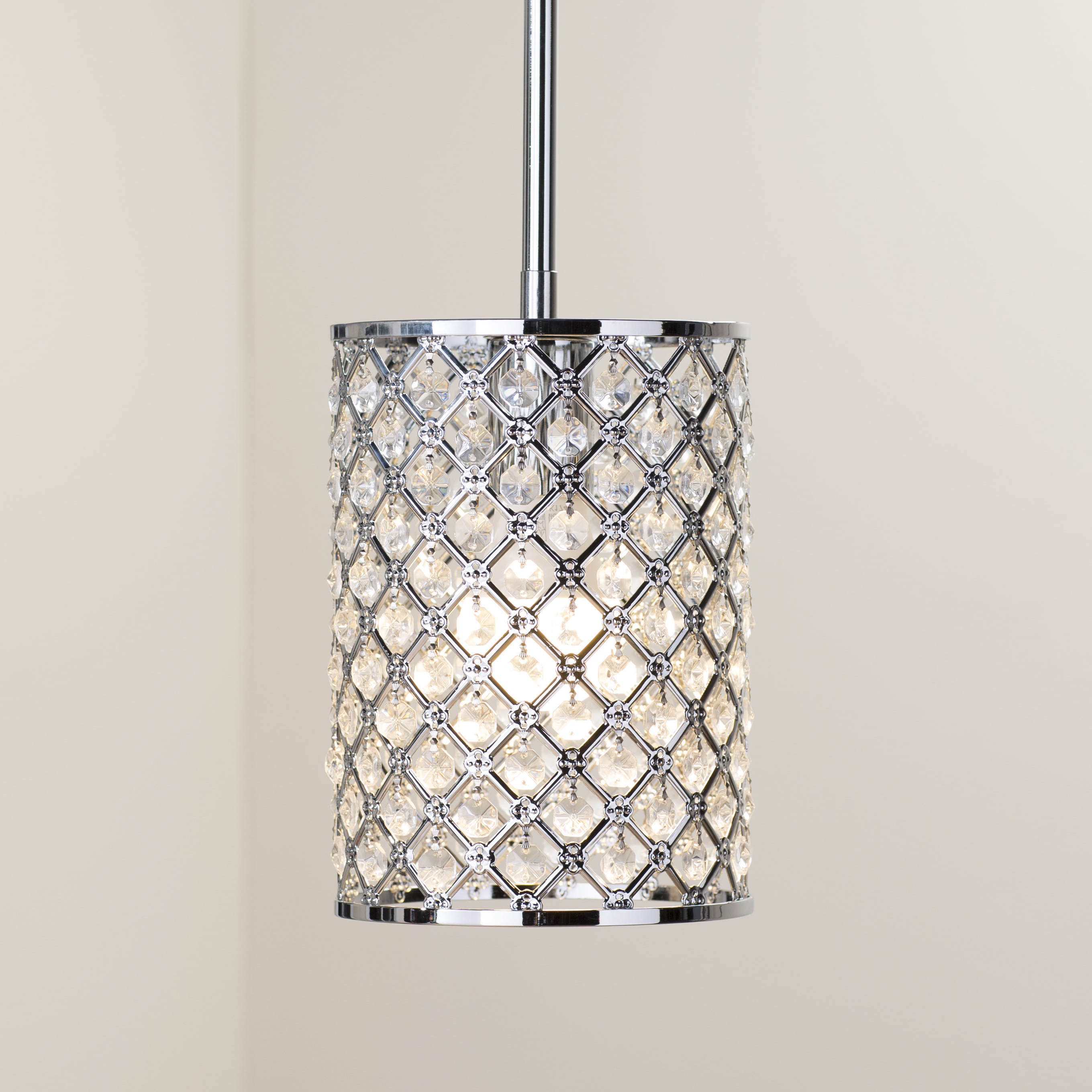 Araujo 1 Light Crystal Pendant Regarding Latest Hurst 1 Light Single Cylinder Pendants (View 3 of 20)