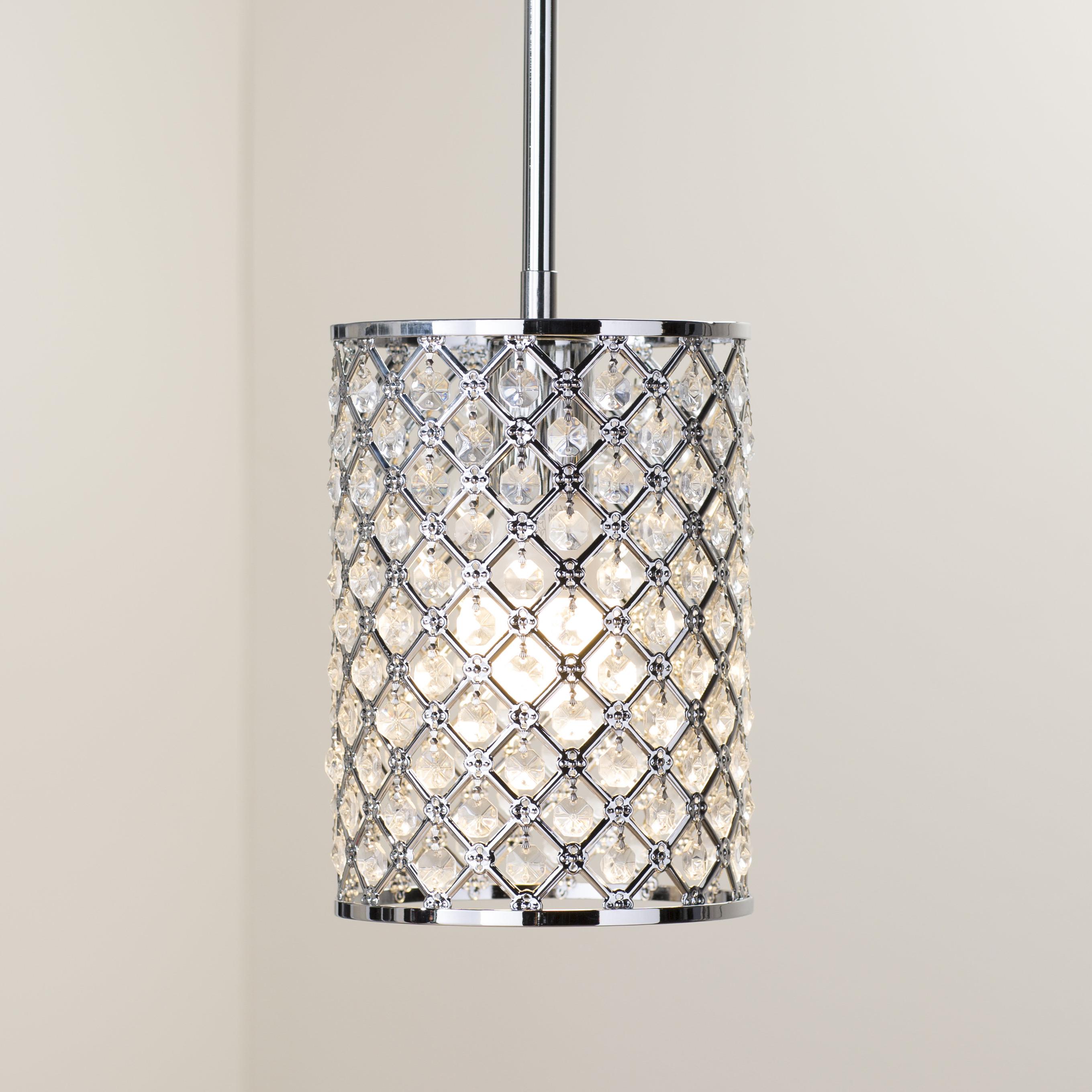 Araujo 1 Light Crystal Pendant Regarding Latest Hurst 1 Light Single Cylinder Pendants (Gallery 9 of 20)